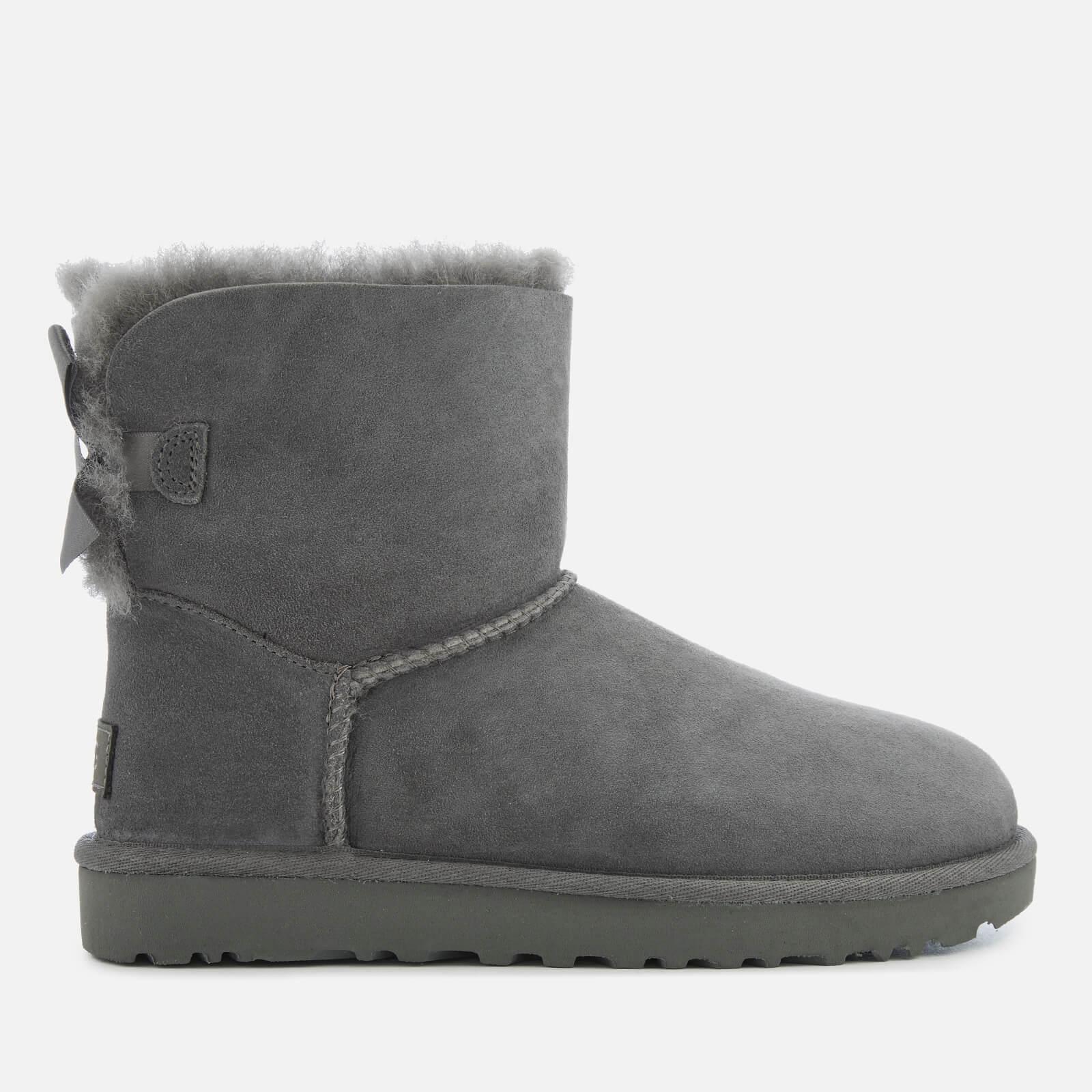 UGG Women's Mini Bailey Bow II Sheepskin Boots - Grey - UK 3