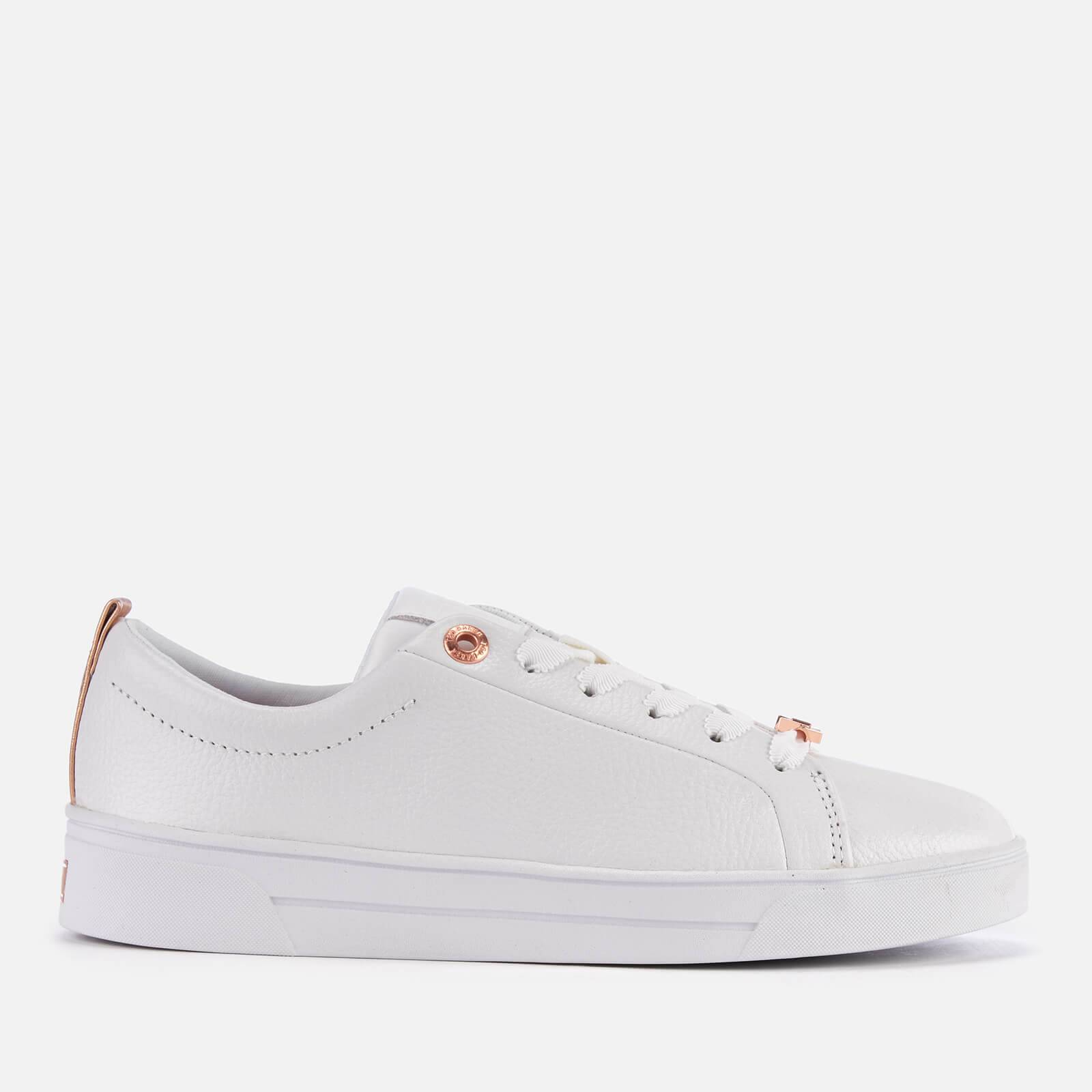 Ted Baker Women's Gielli Leather Cupsole Trainers - White - UK 8 - White