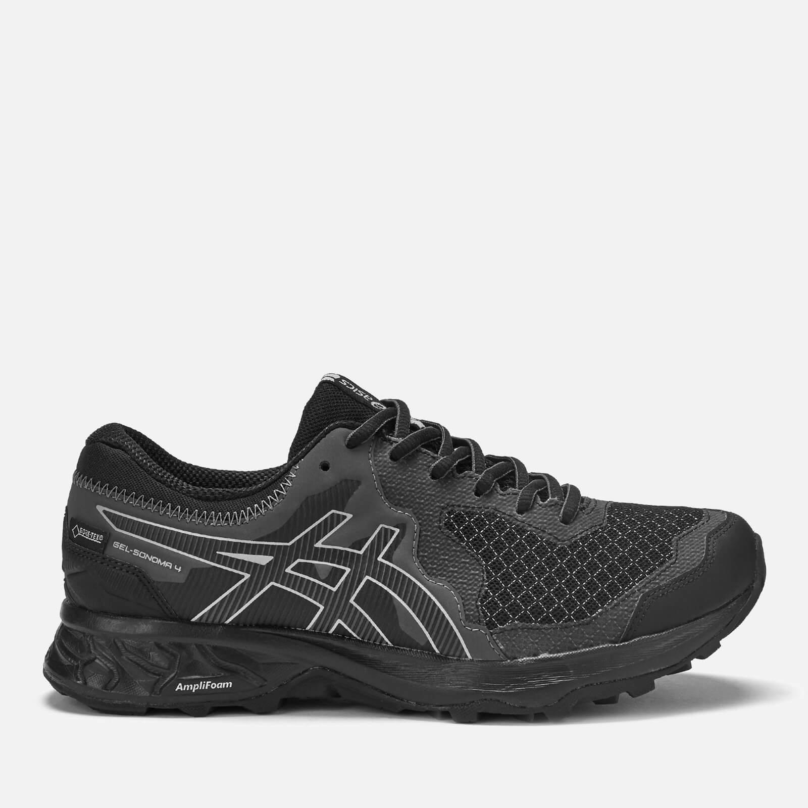 Asics Women's Running Trail Gel Somoma 4 Goretex Trainers - Black/Stone Grey - UK 4 - Black