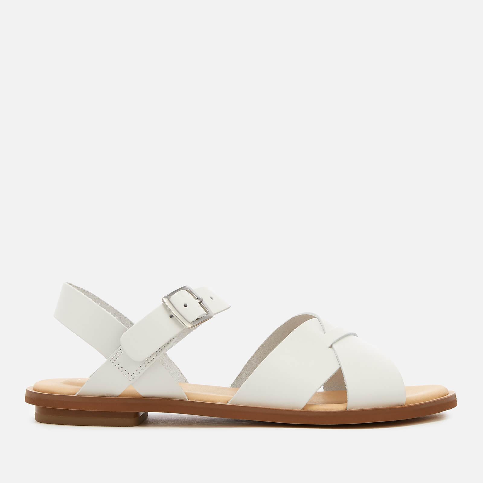Clarks Women's Willow Gild Leather Sandals - White - UK 3 - White