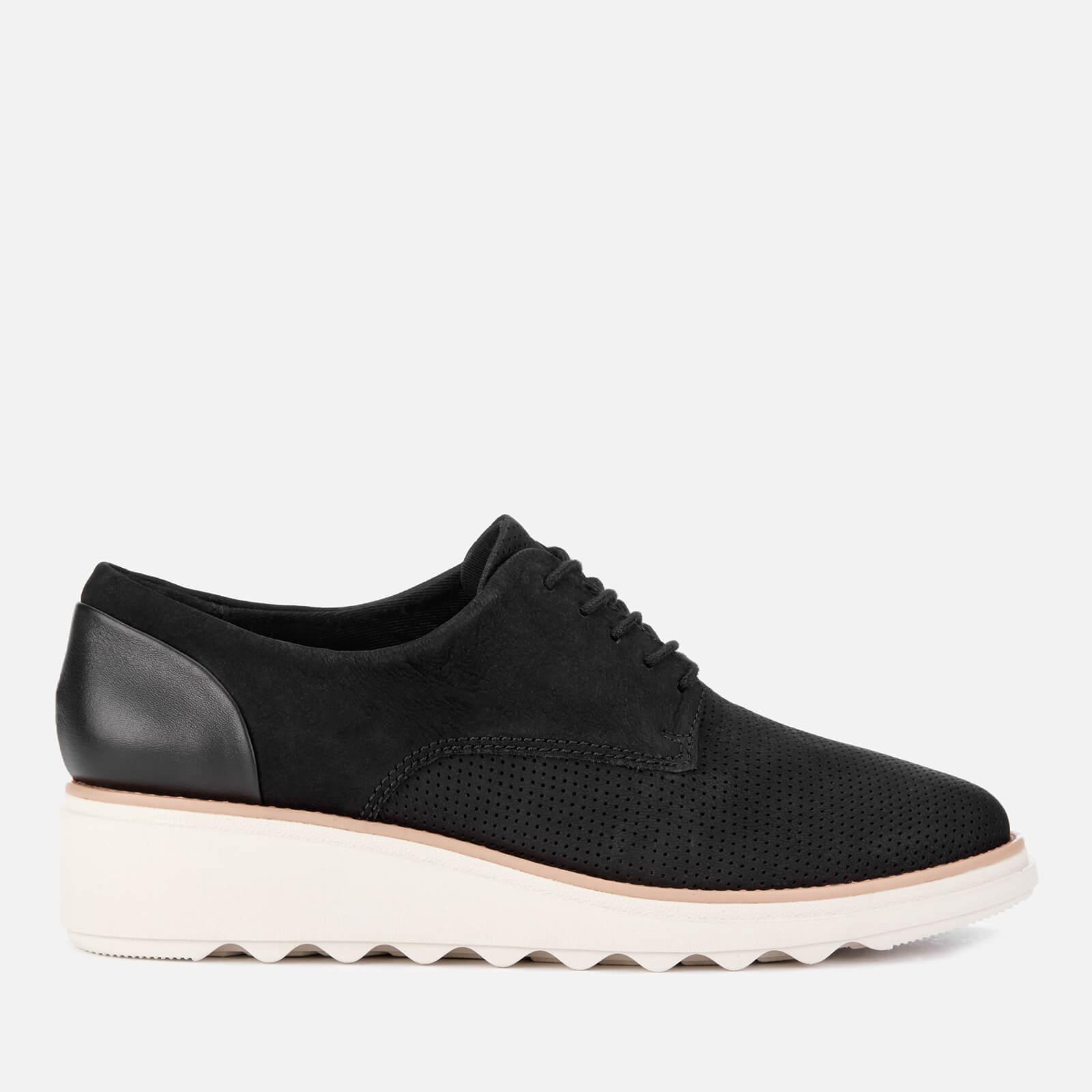 Clarks Women's Sharon Crystal Nubuck/Leather Lace Up Shoes - Black - UK 7 - Black