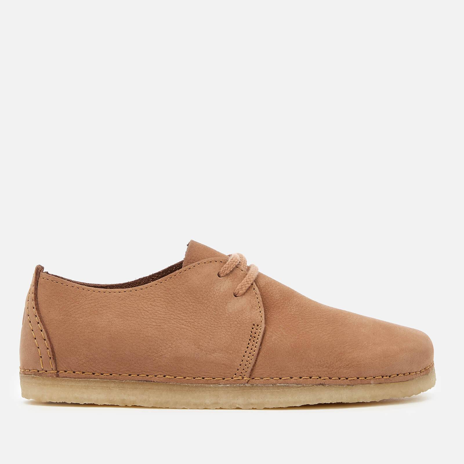 Clarks Originals Women's Ashton Nubuck Lace Up Shoes - Light Tan - UK 3 - Tan