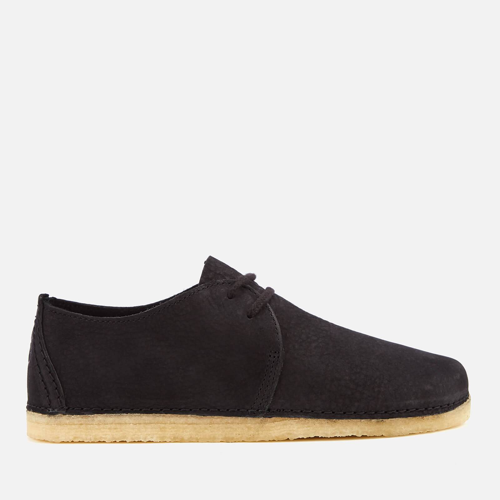 Clarks Originals Women's Ashton Nubuck Lace Up Shoes - Black - UK 5 - Black