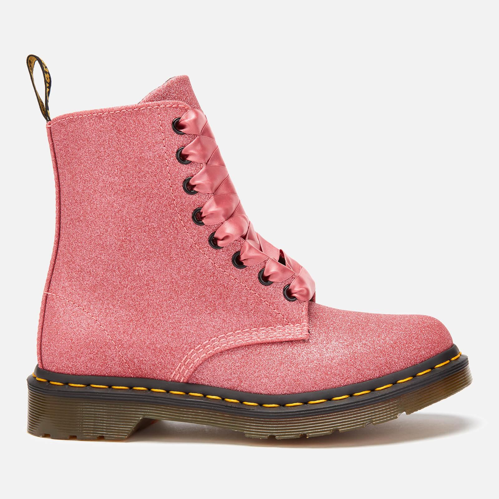 Dr. Martens Women's 1460 Pascal Glitter 8-Eye Boots - Pink - UK 4 - Pink