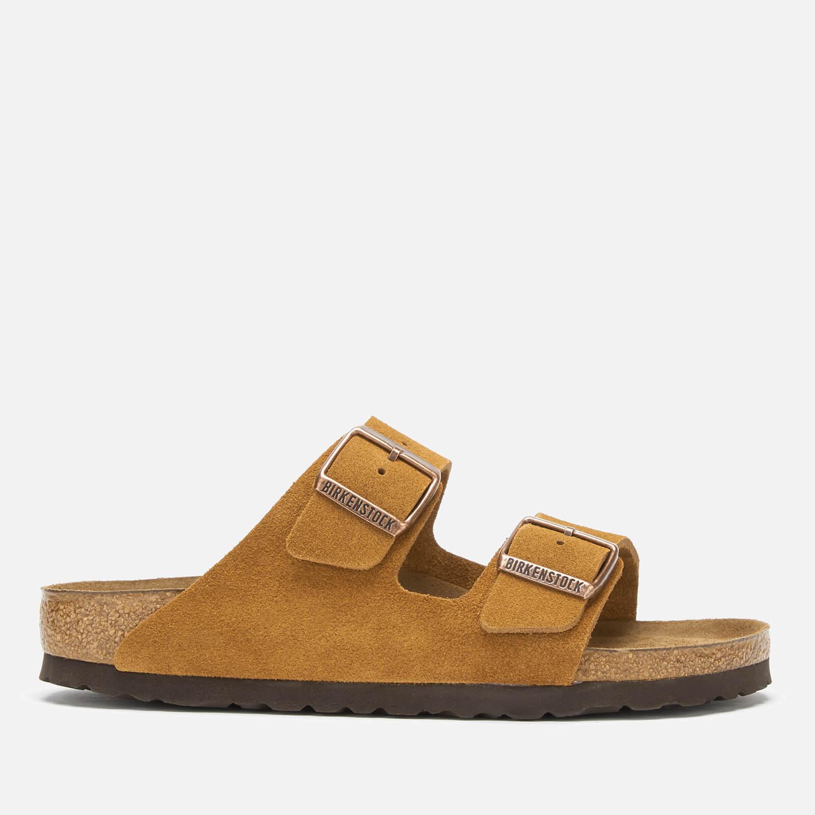 Birkenstock Women's Arizona Sfb Suede Double Strap Sandals - Mink - EU 39/UK 5.5