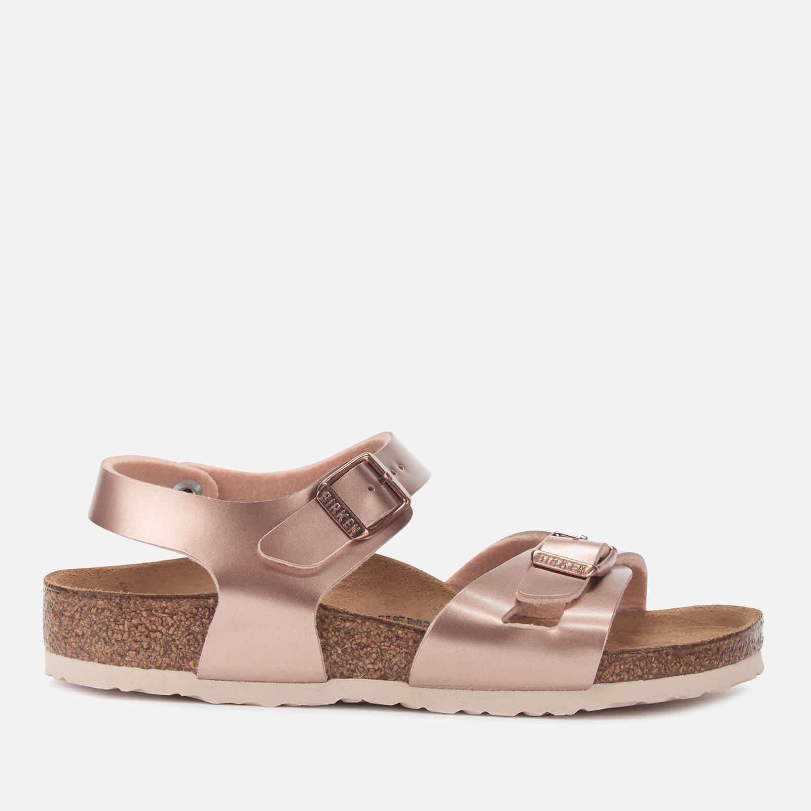 Birkenstock Kids' Rio Slim Fit Double Strap Sandals - Electric Metallic Copper - EU 29/UK 11