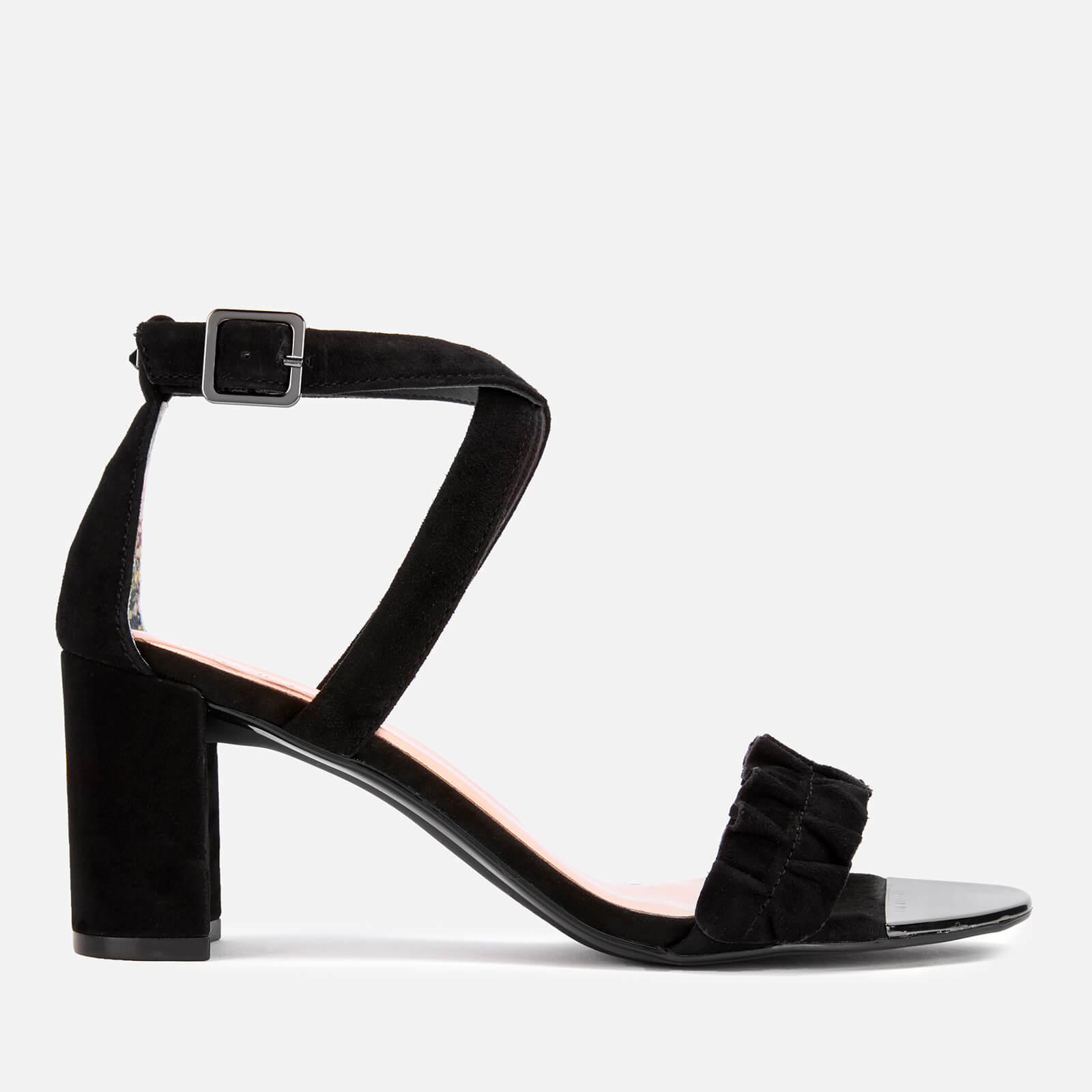 Ted Baker Women's Floxen Suede Block Heeled Sandals - Black - UK 7 - Black