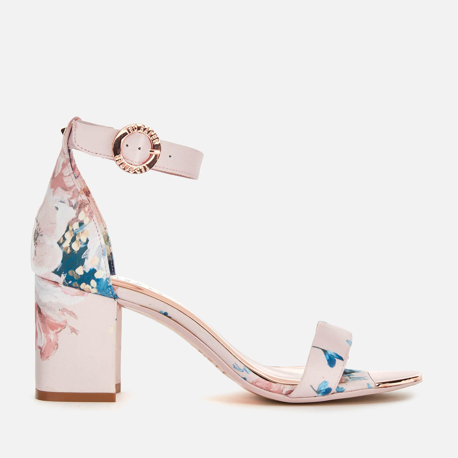 Ted Baker Women's Manyah Satin Block Heeled Sandals - Light Pink - UK 3 - Pink