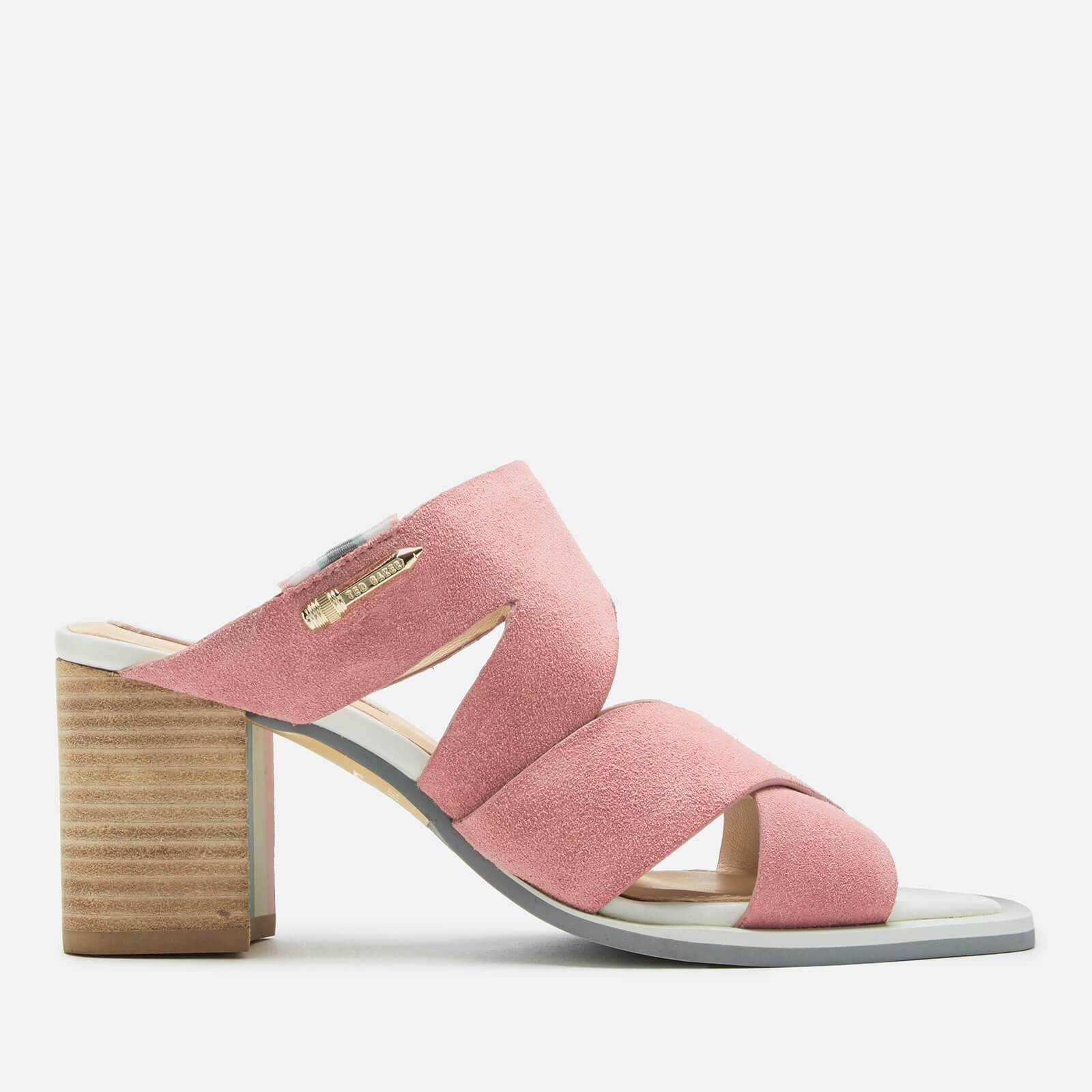 Ted Baker Women's Airica Suede Heeled Mules - Pink - UK 6