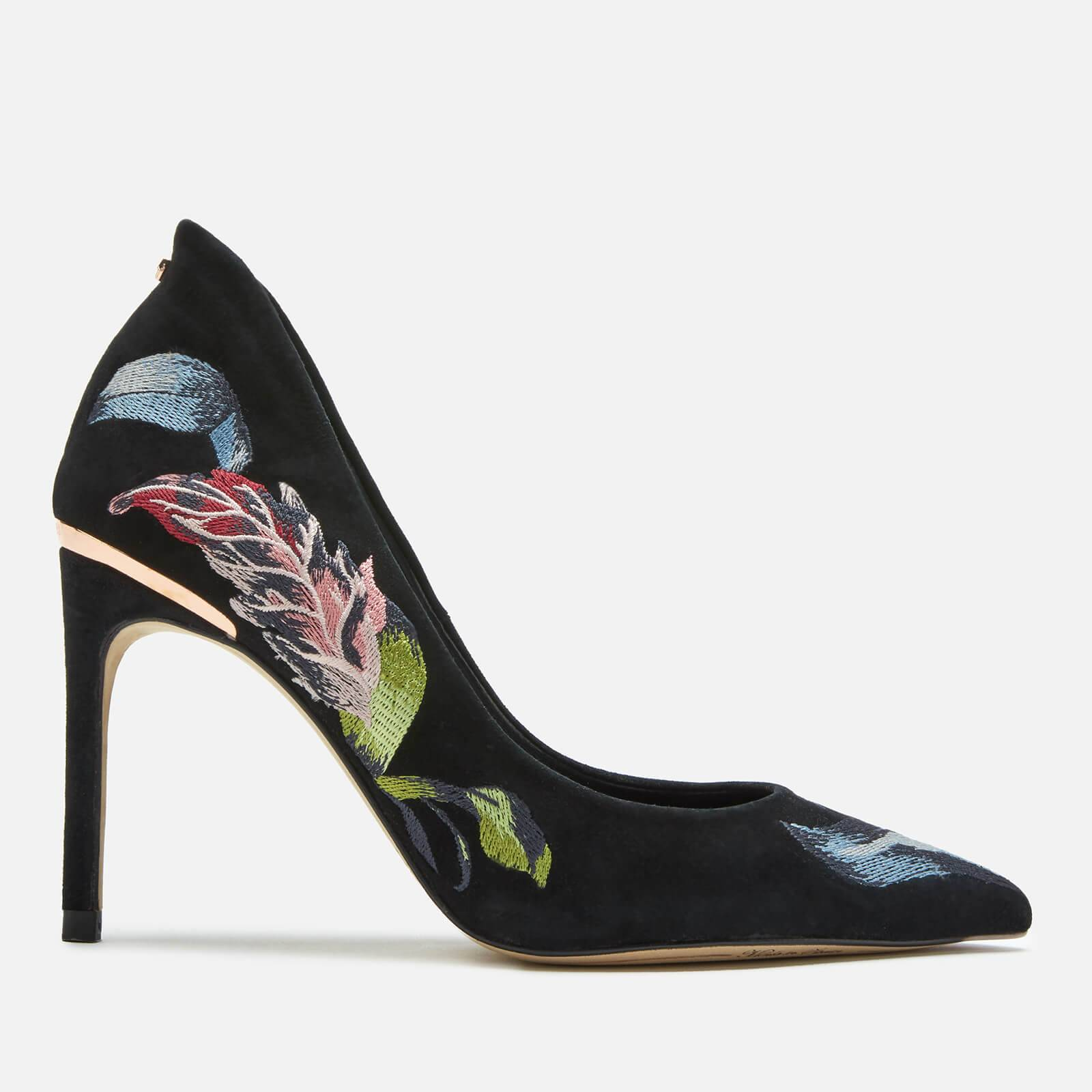 Ted Baker Women's Saviop Printed Court Shoes - Navy - UK 8