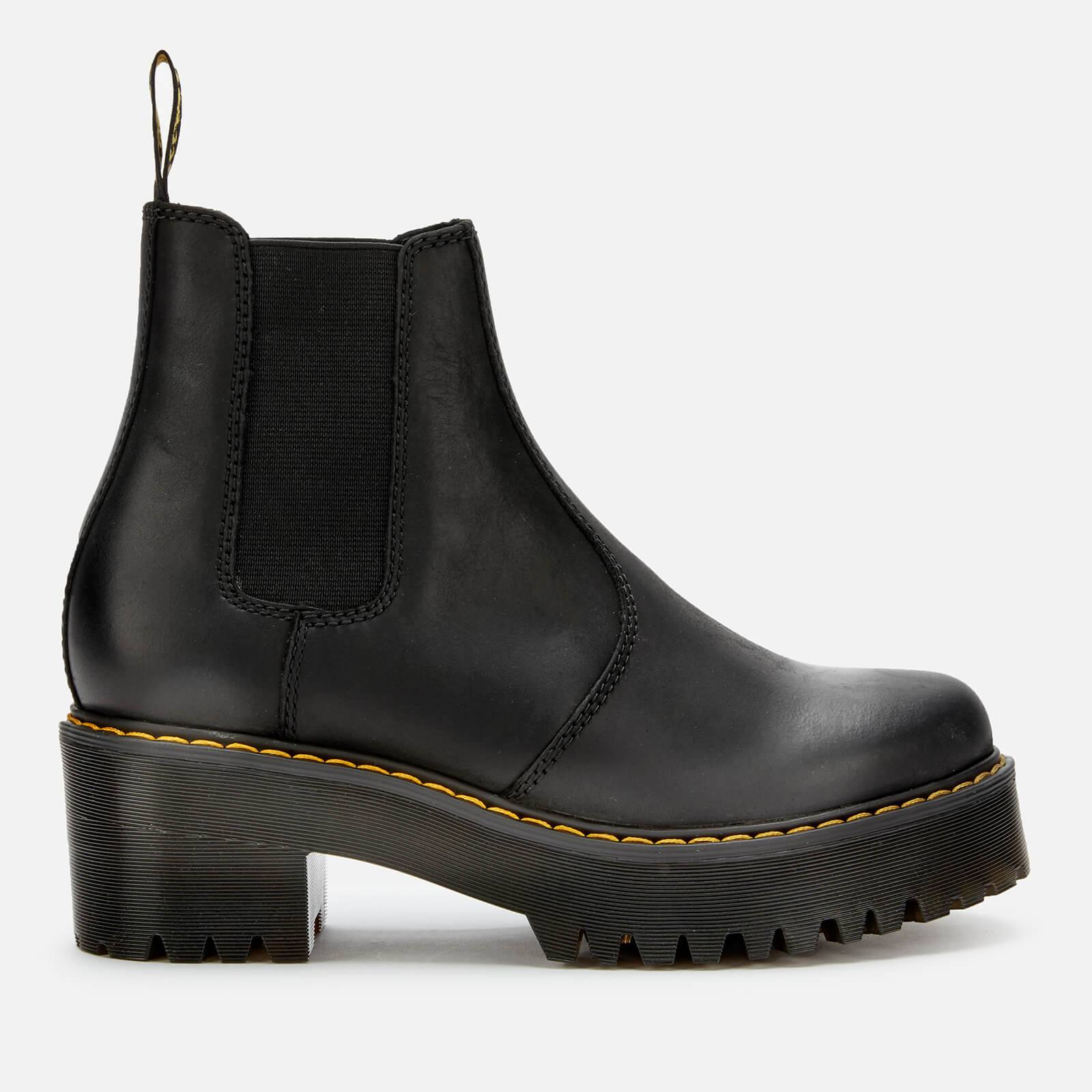 Dr. Martens Women's Rometty Leather Chunky Sole Chelsea Boots - Black - UK 5 - Black