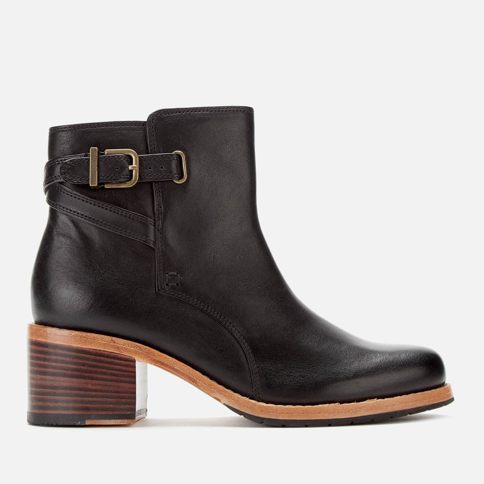 Clarks Women's Clarkdale Jax Leather Heeled Ankle Boots - Black - UK 7