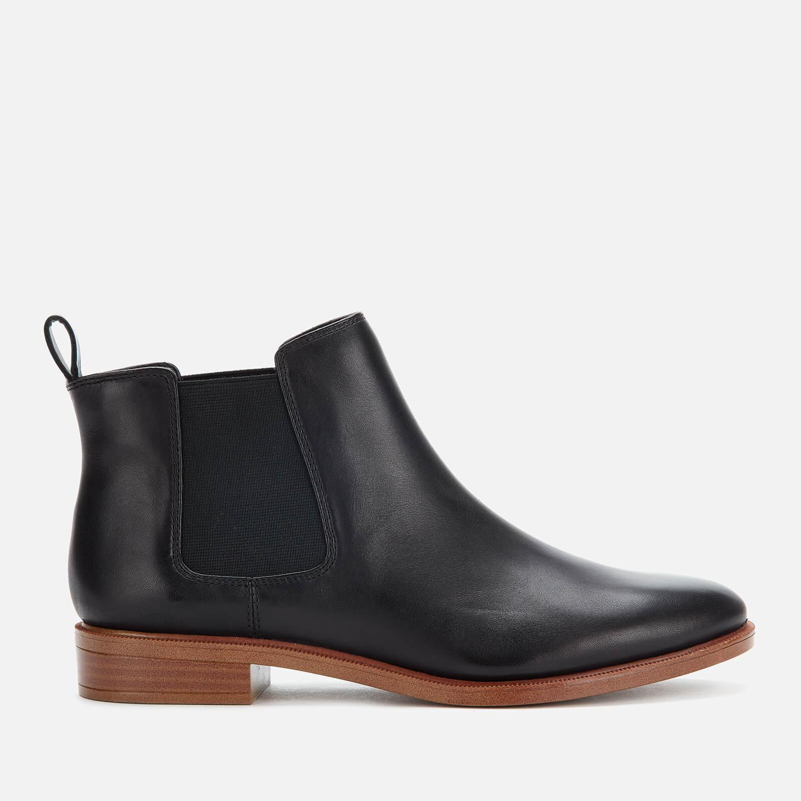 Clarks Women's Taylor Shine Leather Chelsea Boots - Black - UK 7