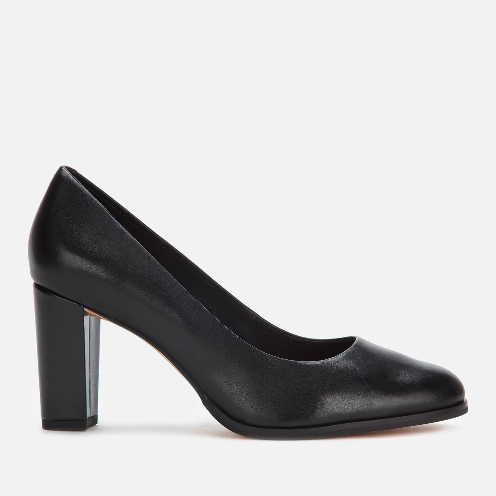Clarks Women's Kaylin Cara Leather Court Shoes - Black - UK 5