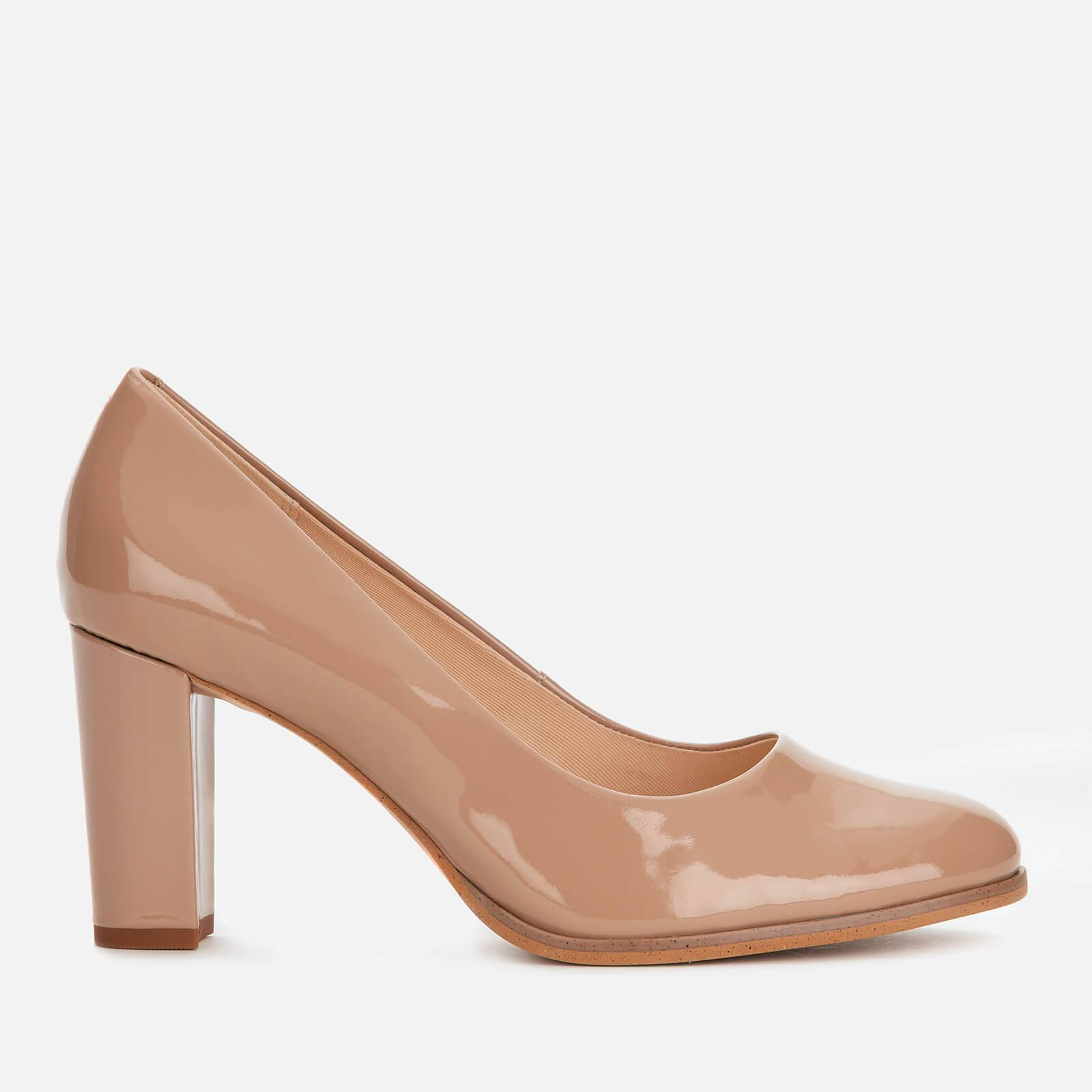 Clarks Women's Kaylin Cara Patent Court Shoes - Praline - UK 5
