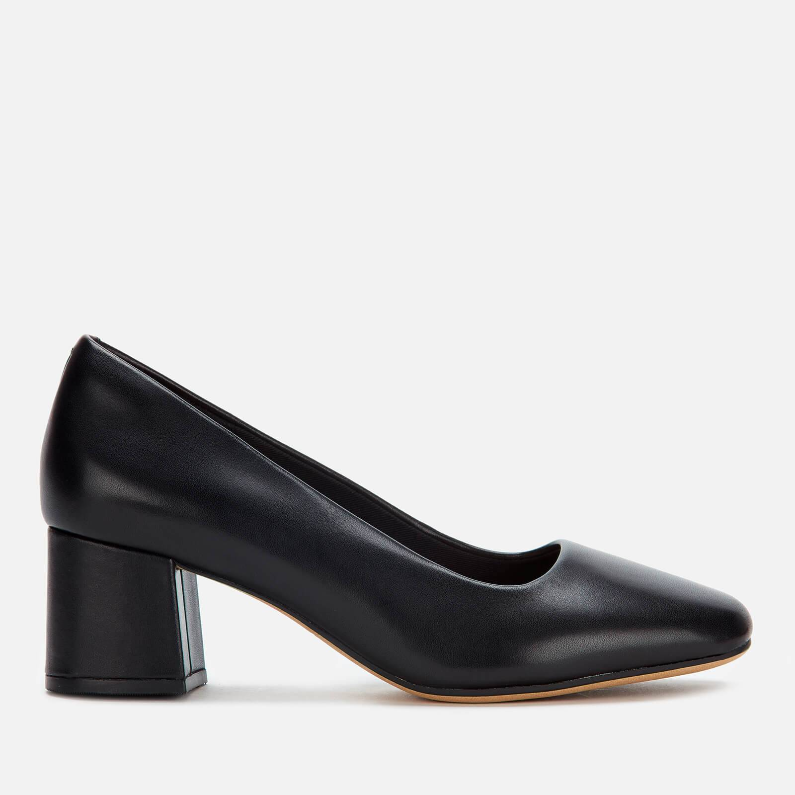 Clarks Women's Sheer Rose Leather Block Heeled Shoes - Black - UK 3