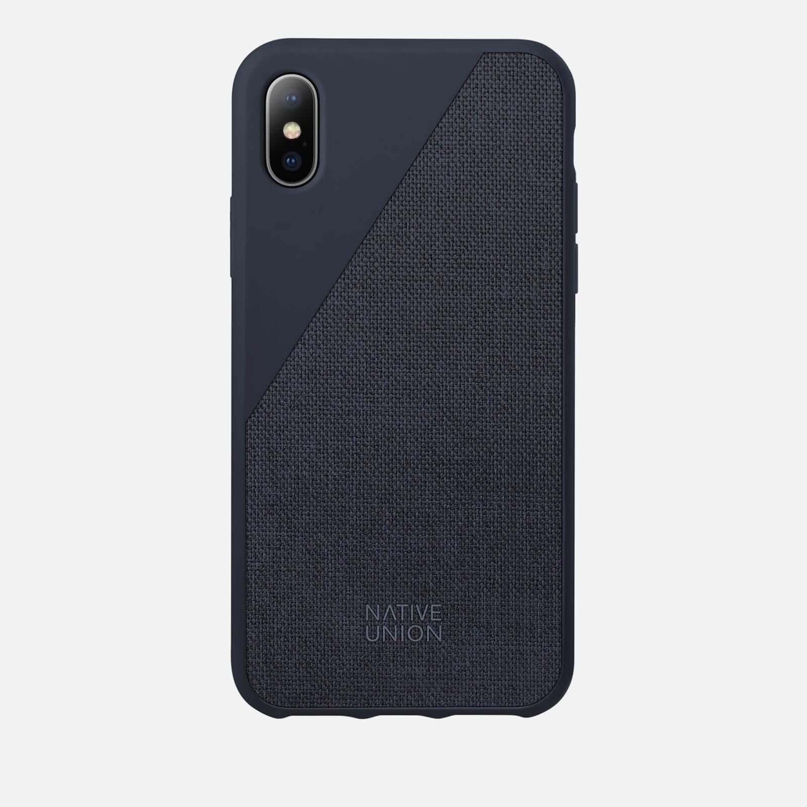 Native Union Clic Canvas - iPhone X Case - Marine