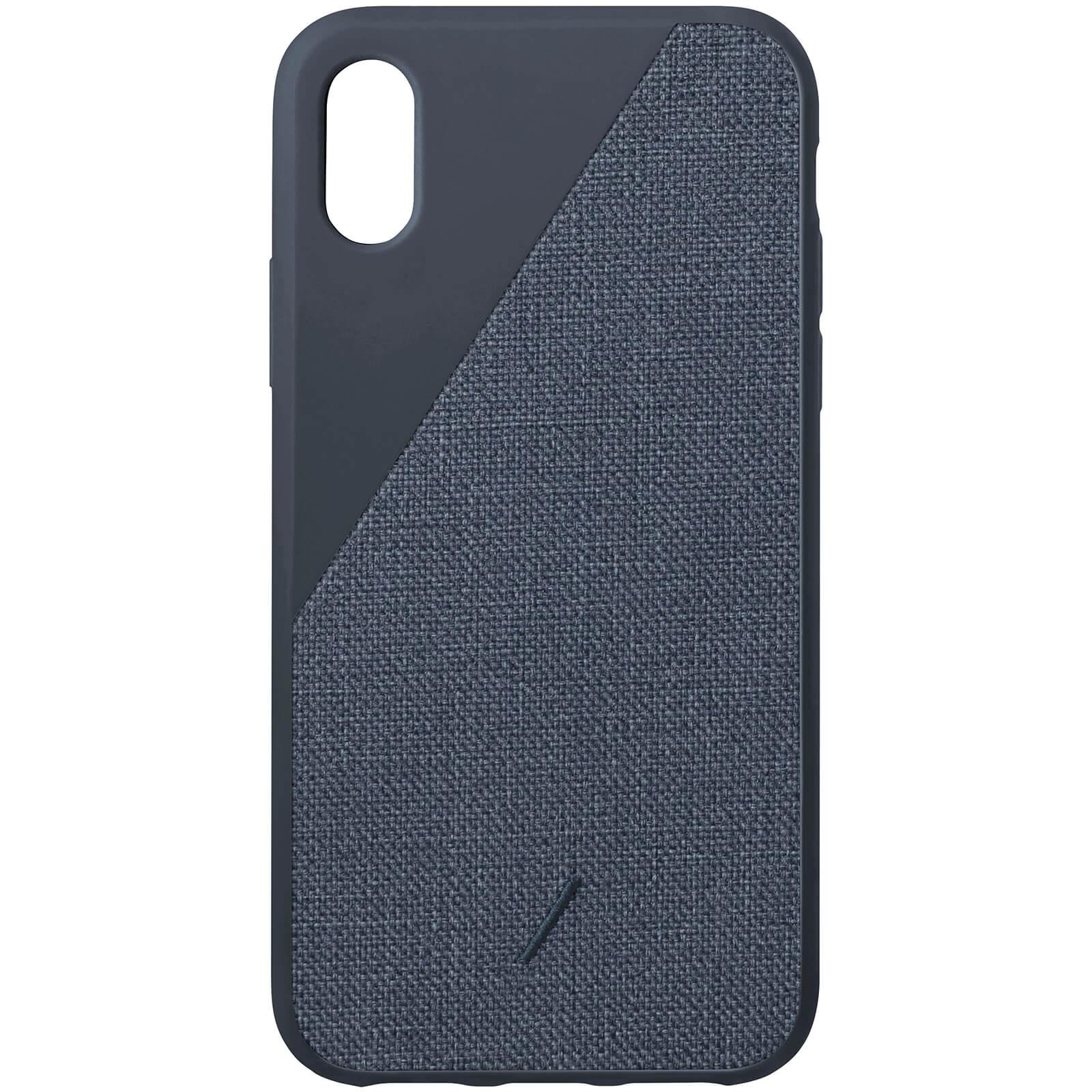 Native Union Clic Canvas iPhone Xs Case - Navy