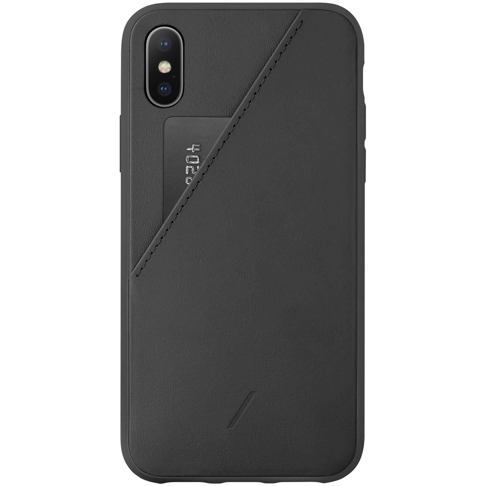 Native Union Clic Card iPhone Xs Case - Black