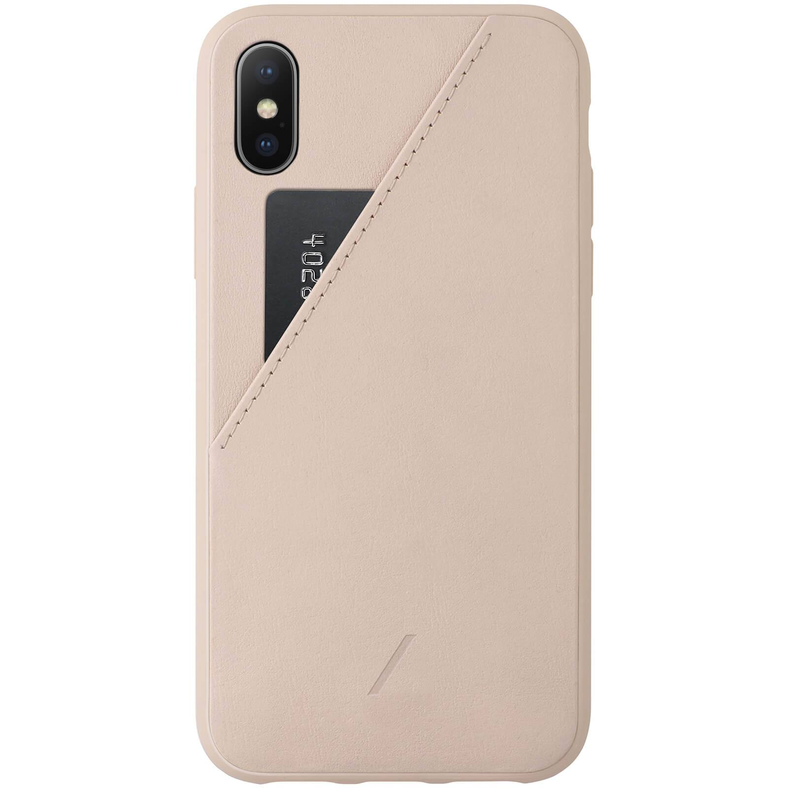 Native Union Clic Card iPhone Xs Case - Rose
