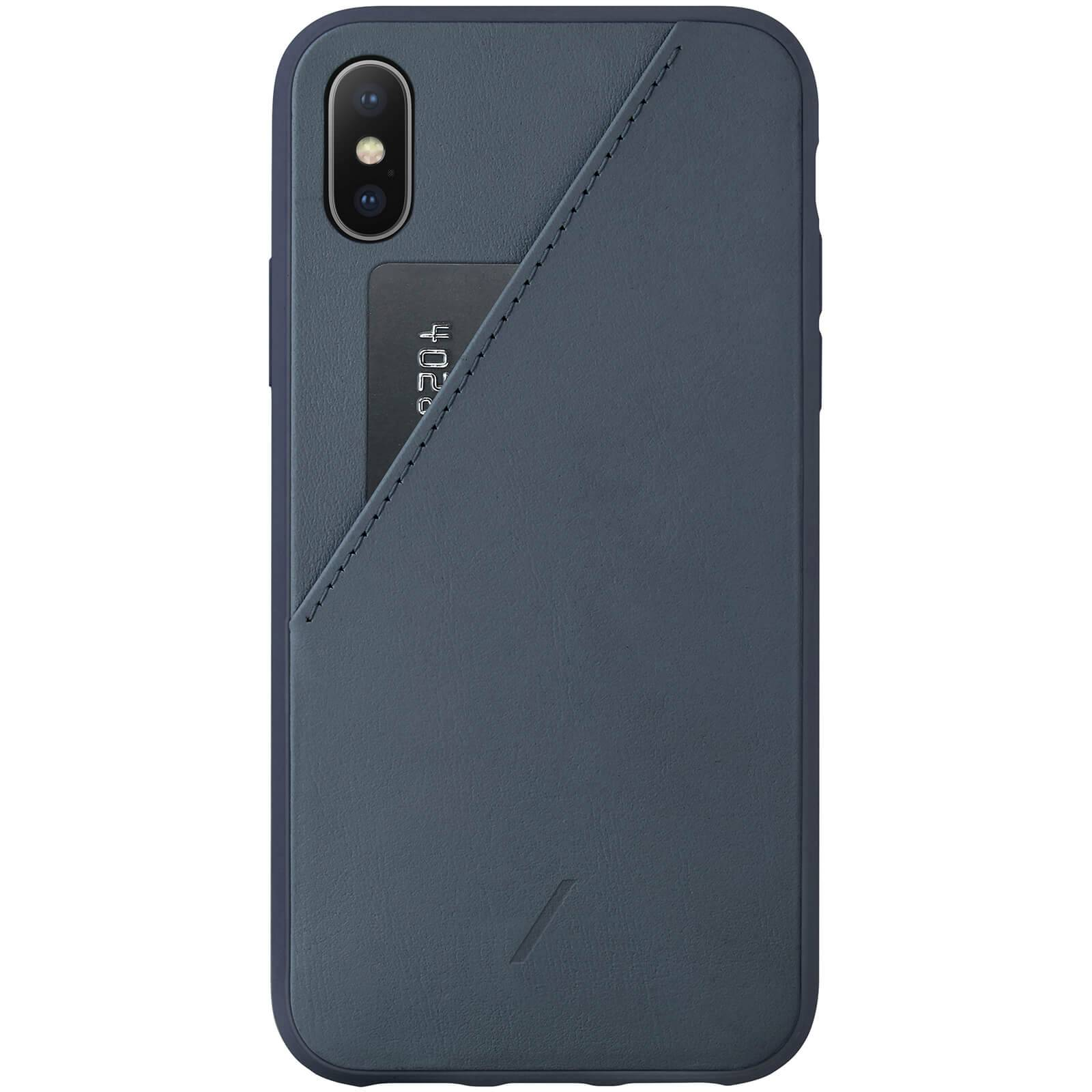 Native Union Clic Card iPhone Xs Case - Navy