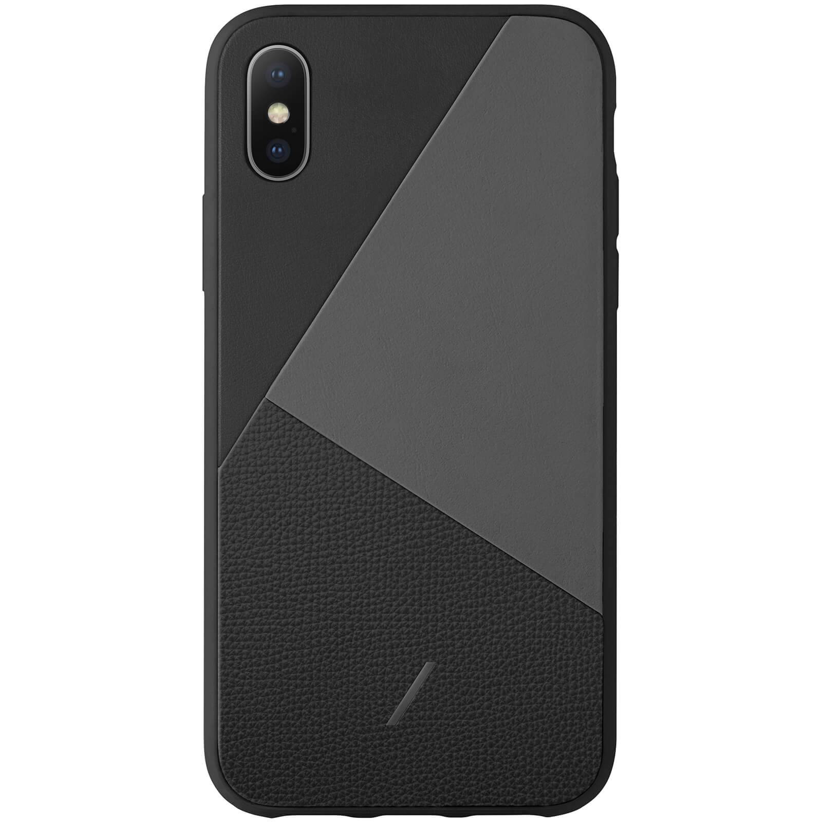 Native Union Clic Marquetry iPhone Xs Case - Black