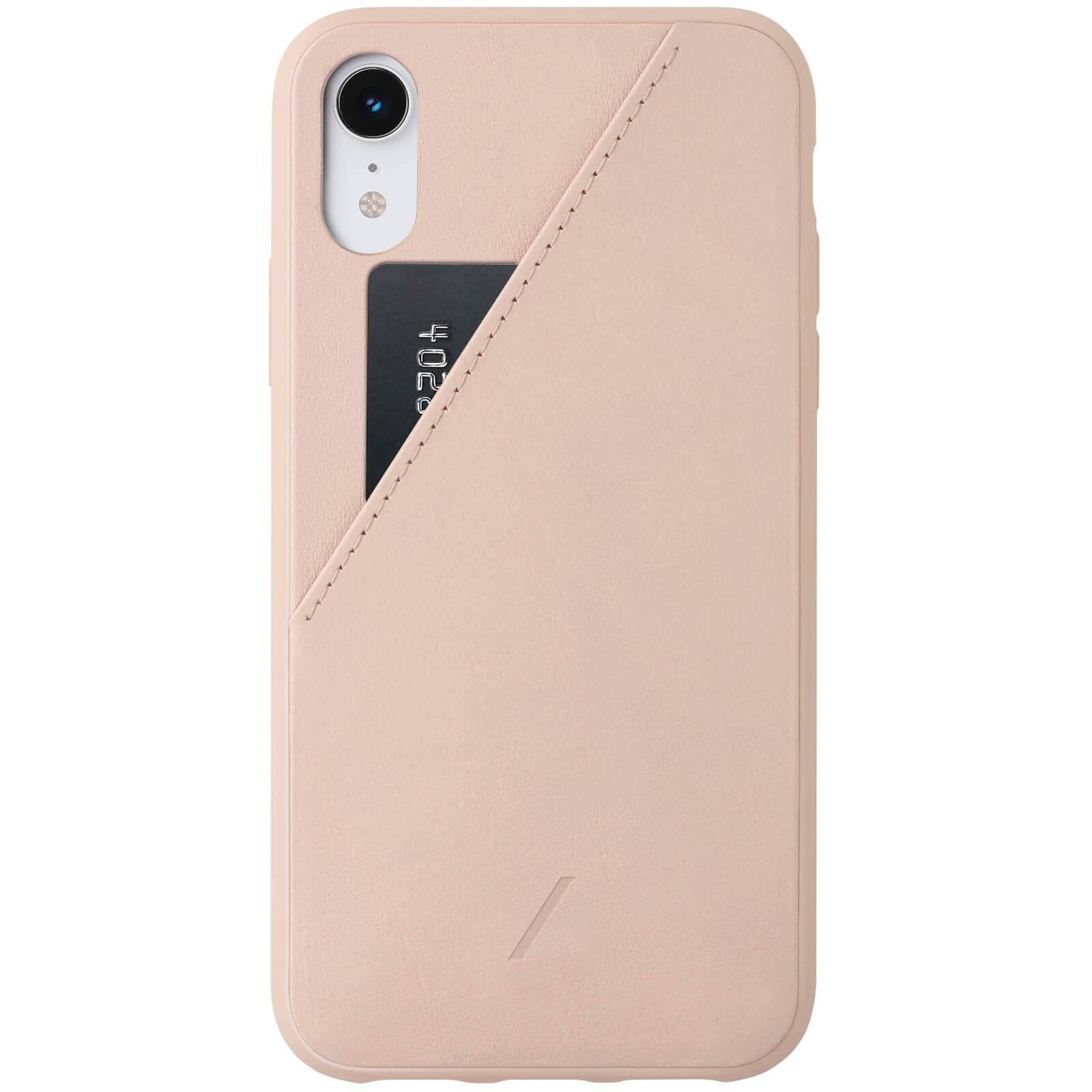 Native Union Clic Card iPhone XR Case - Rose