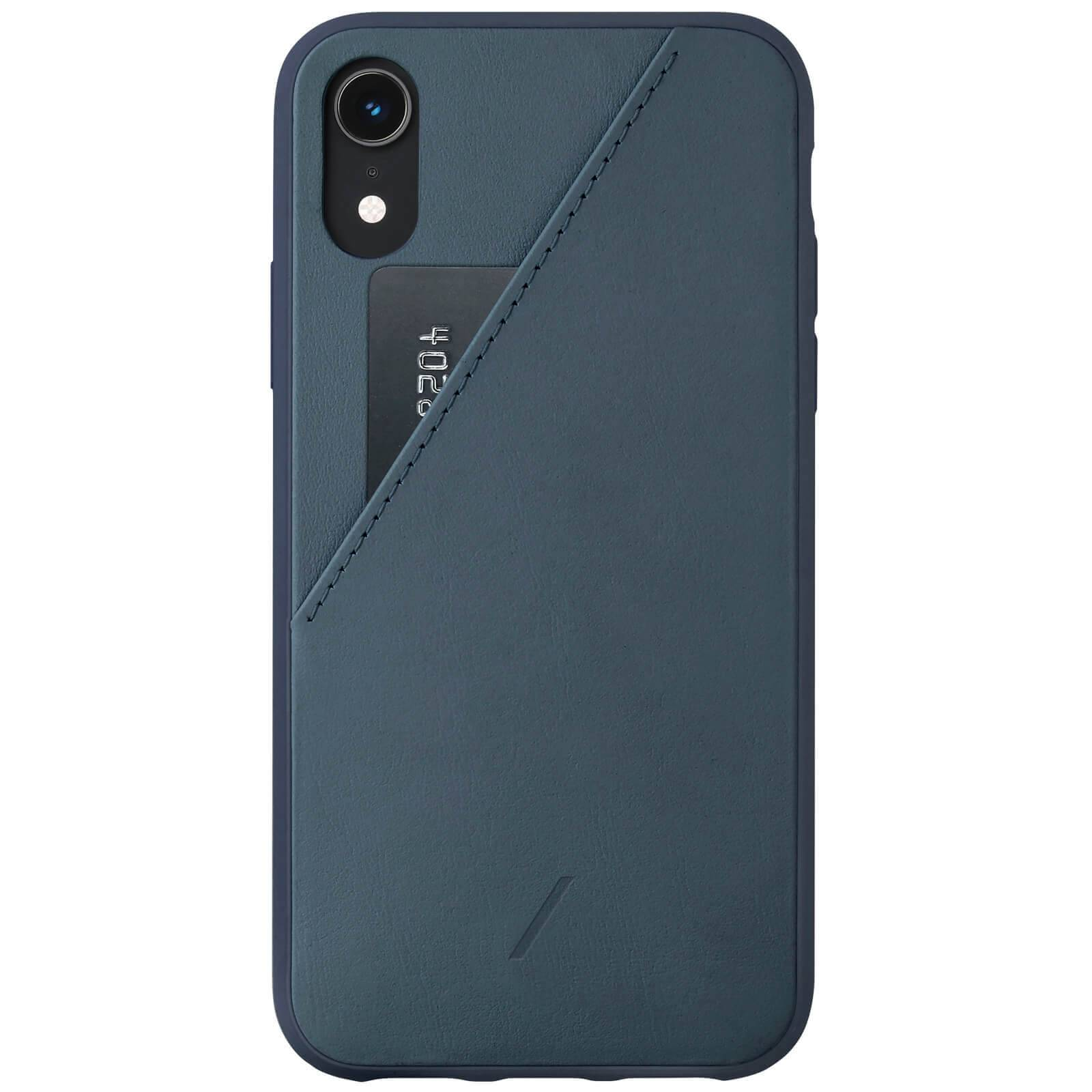 Native Union Clic Card iPhone XR Case - Navy