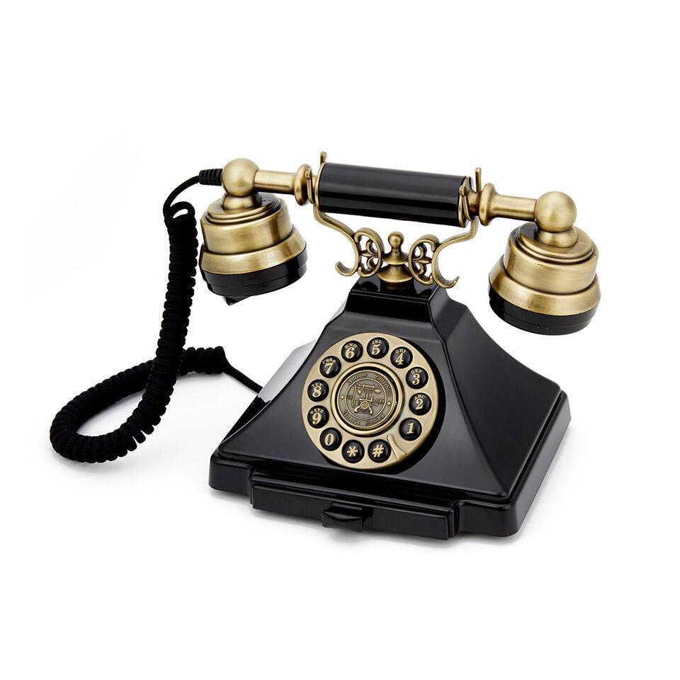 GPO Retro Duke Telephone with Push Button Dial - Black