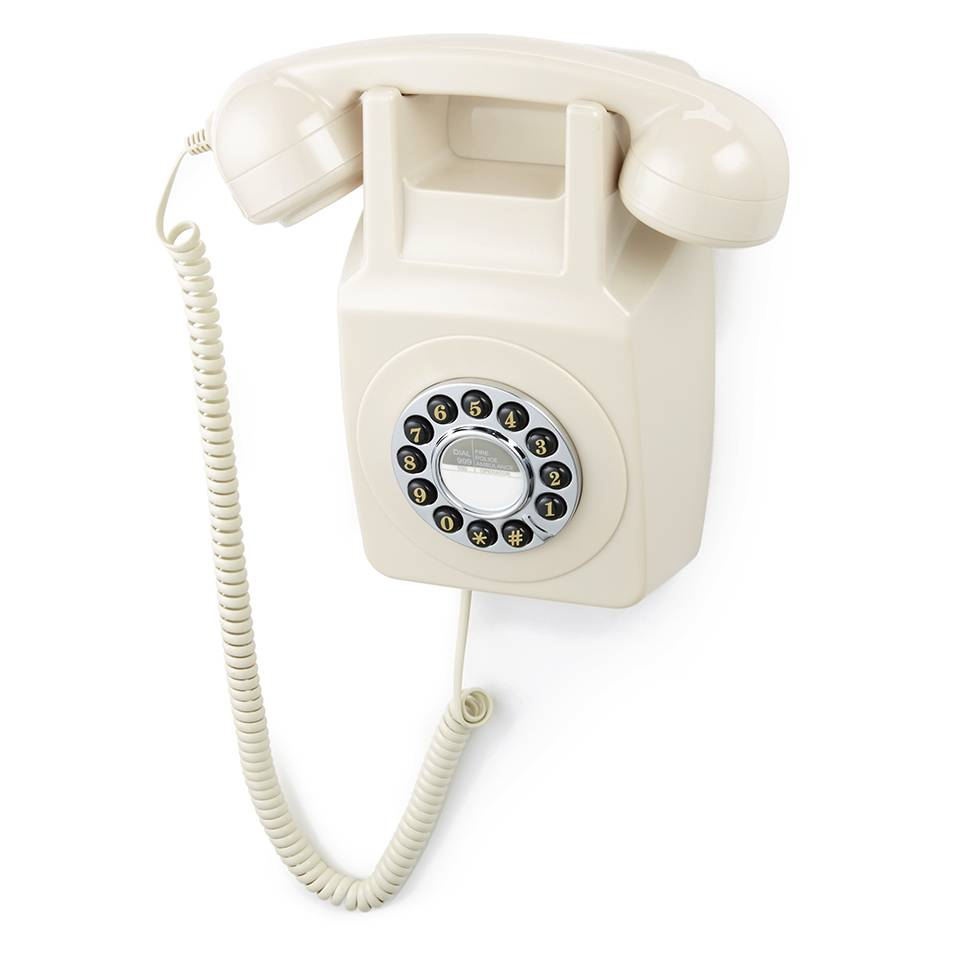 GPO Retro 746 Push Button Wall Telephone - Ivory