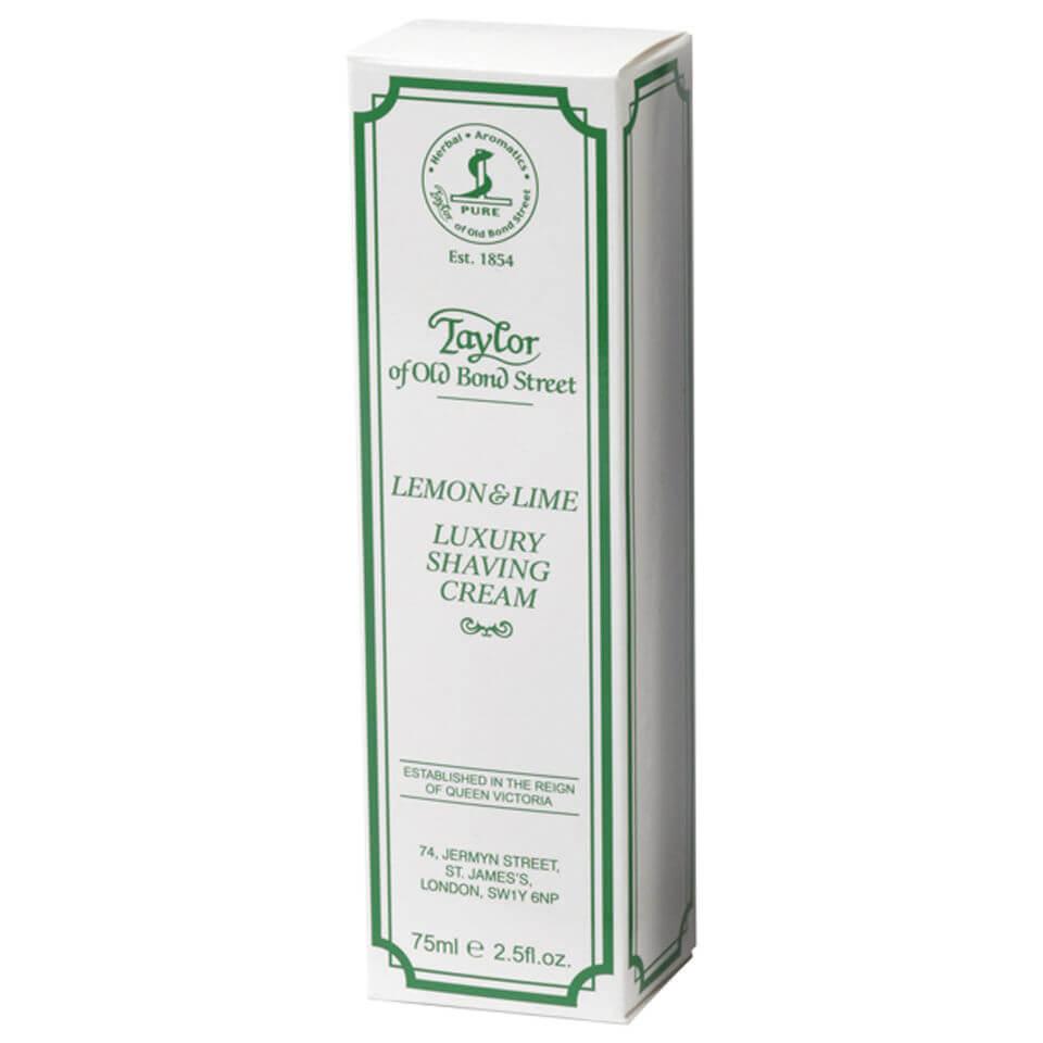 Taylor of Old Bond Street Shaving Cream Tube (75g) - Lemon and Lime
