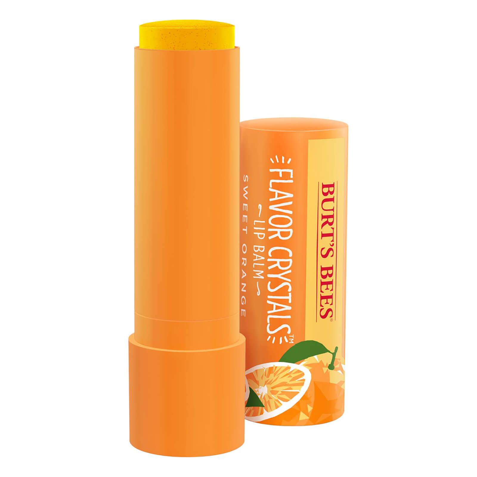 Burts Bees Flavour Crystals 100% Natural Moisturising Lip Balm - Sweet Orange 4.53g