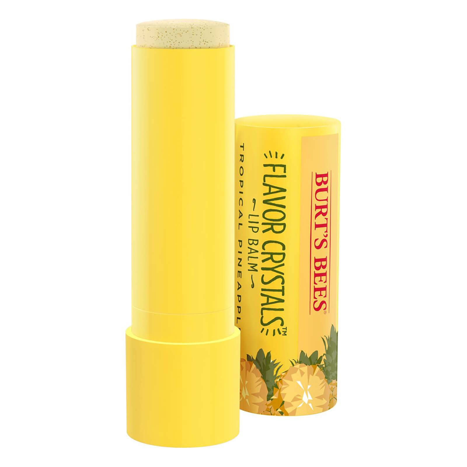 Burts Bees Flavour Crystals 100% Natural Moisturising Lip Balm - Tropical Pineapple 4.53g