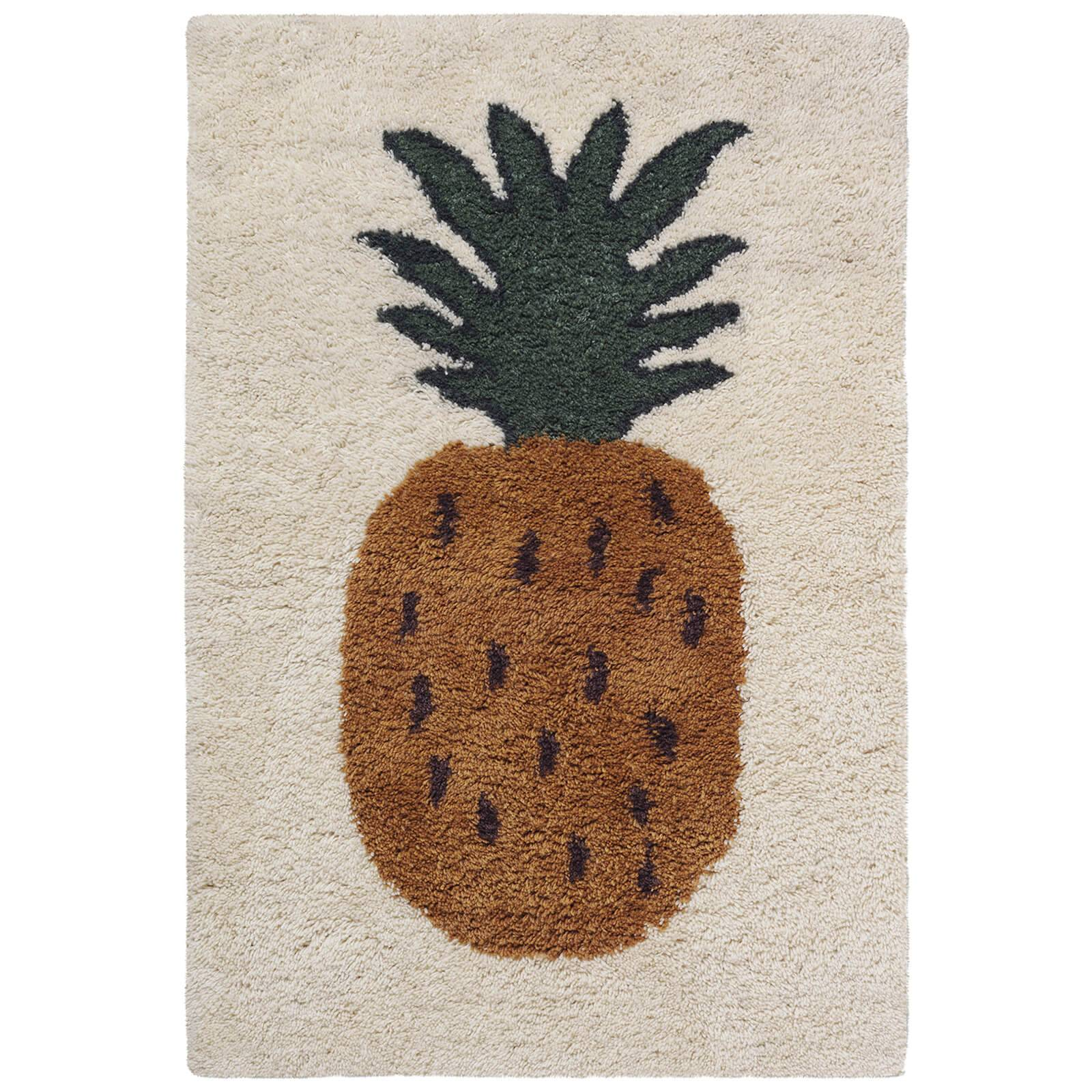 Ferm Living Fruiticana Tufted Pineapple Rug - Small