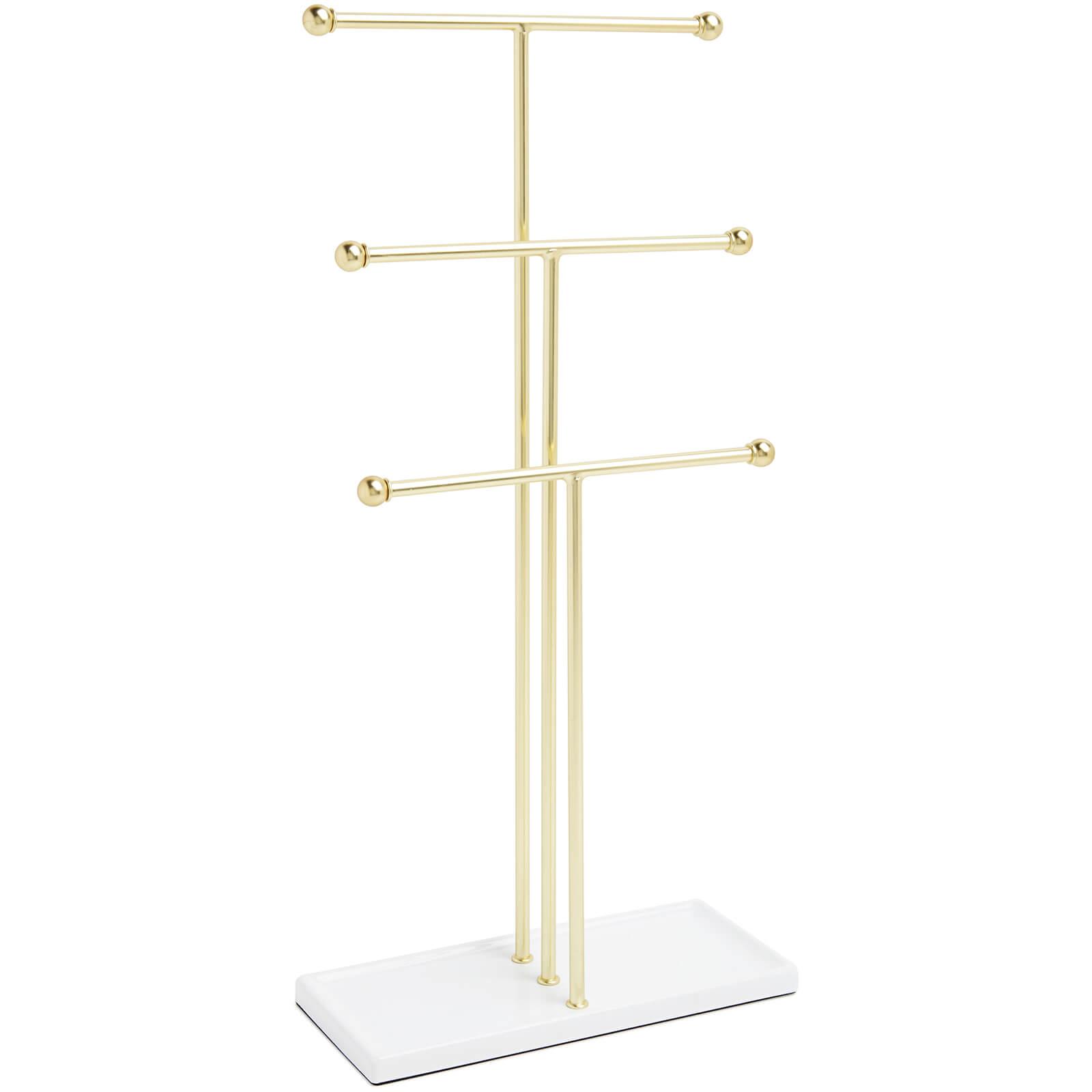 Umbra Trigem Jewellery Stand - White/Brass