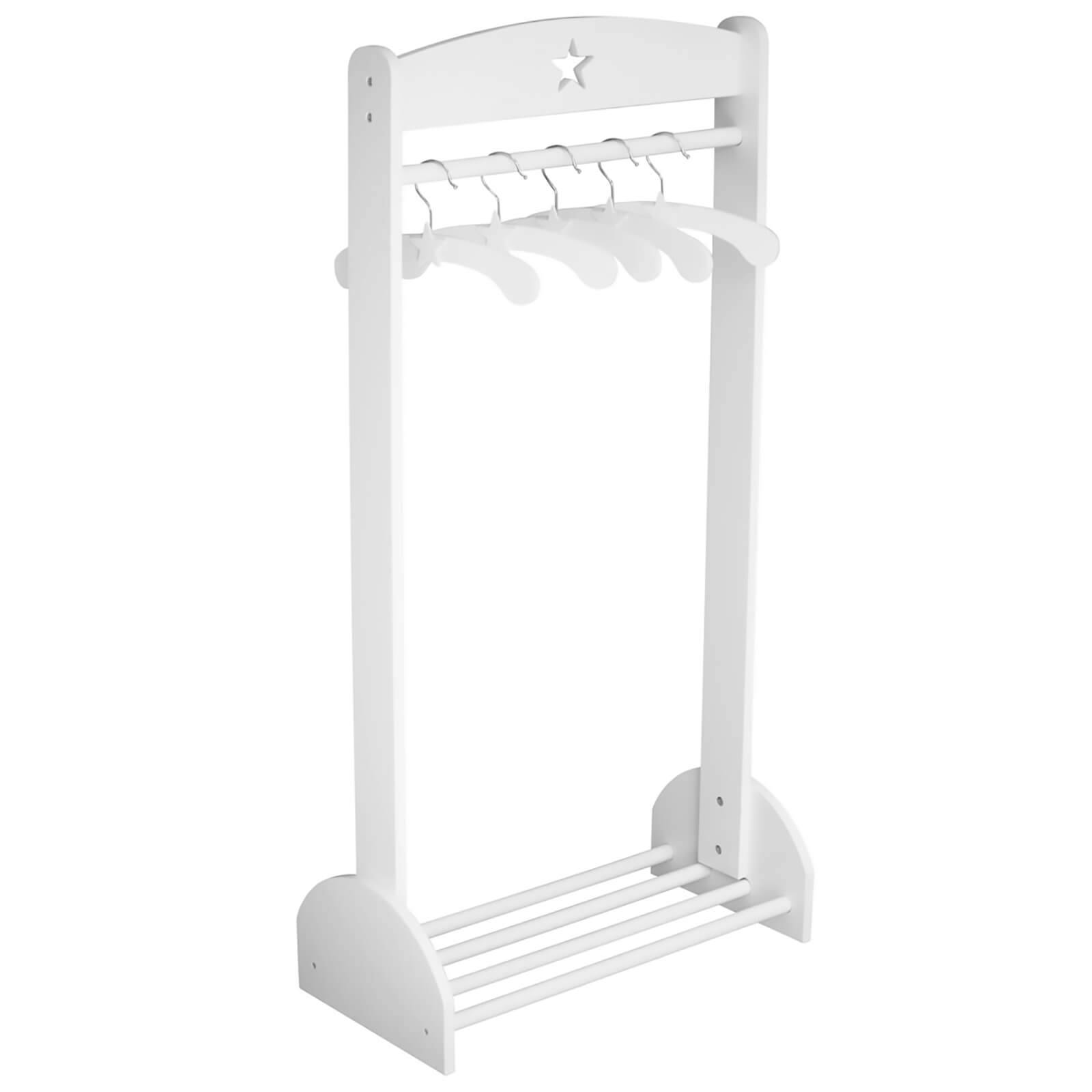 Kids Concept Star Clothes Rail - White