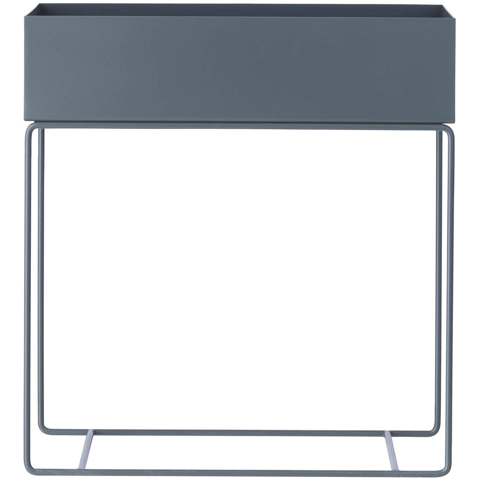 Ferm Living Plant Box and Side Table - Dark Grey
