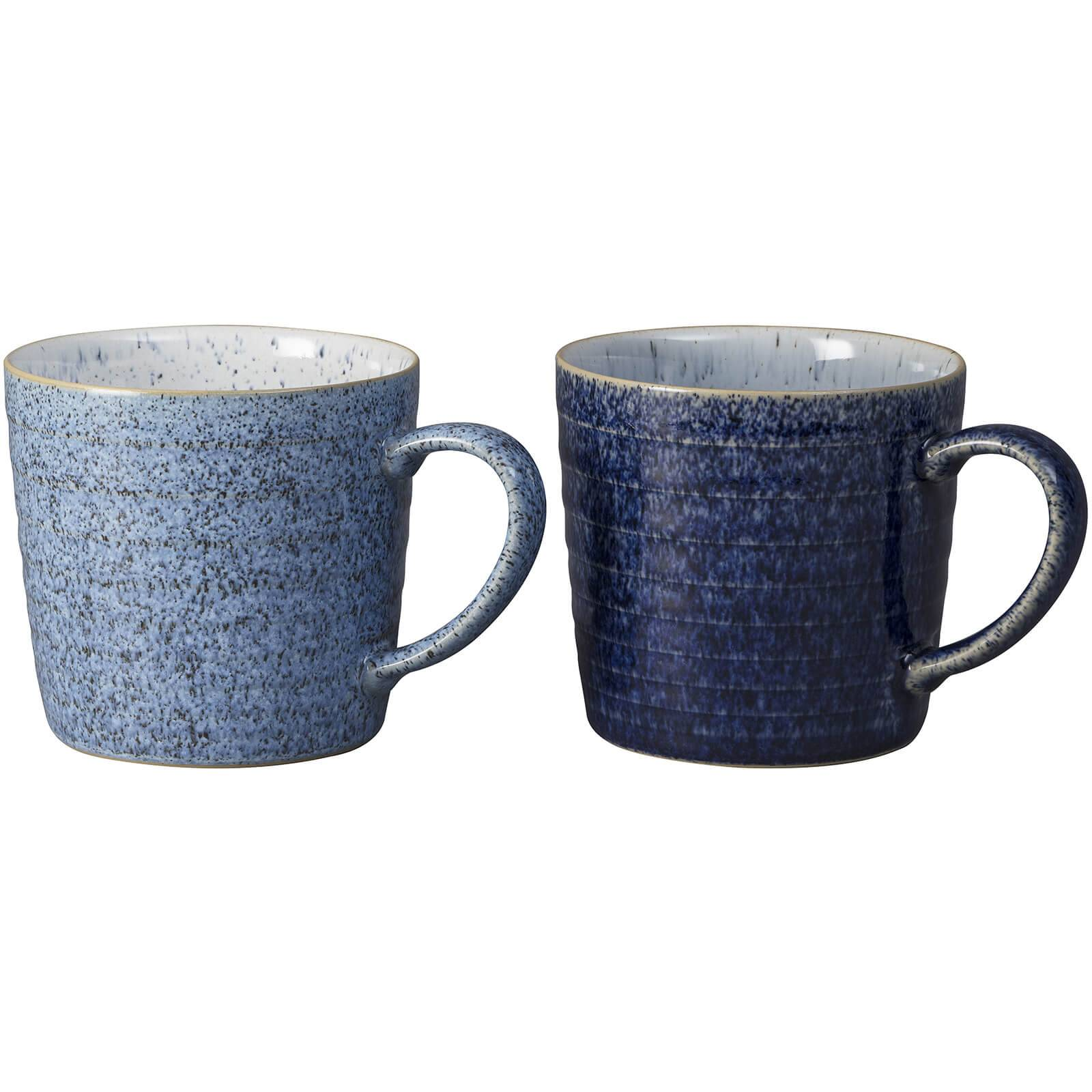 Denby Studio Blue 2 Piece Ridged Mug Set