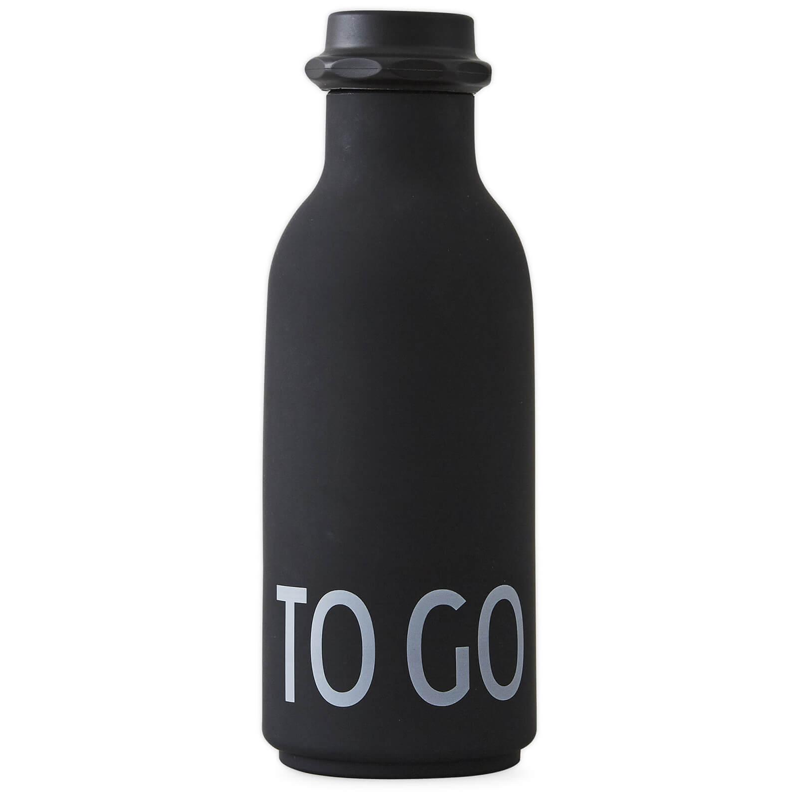 Design Letters To Go Water Bottle - Black