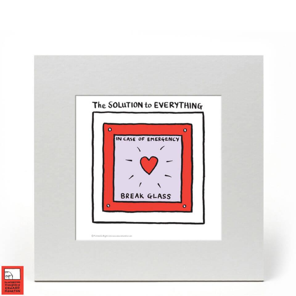 Edward Monkton Fine Art Print - The solution to everything