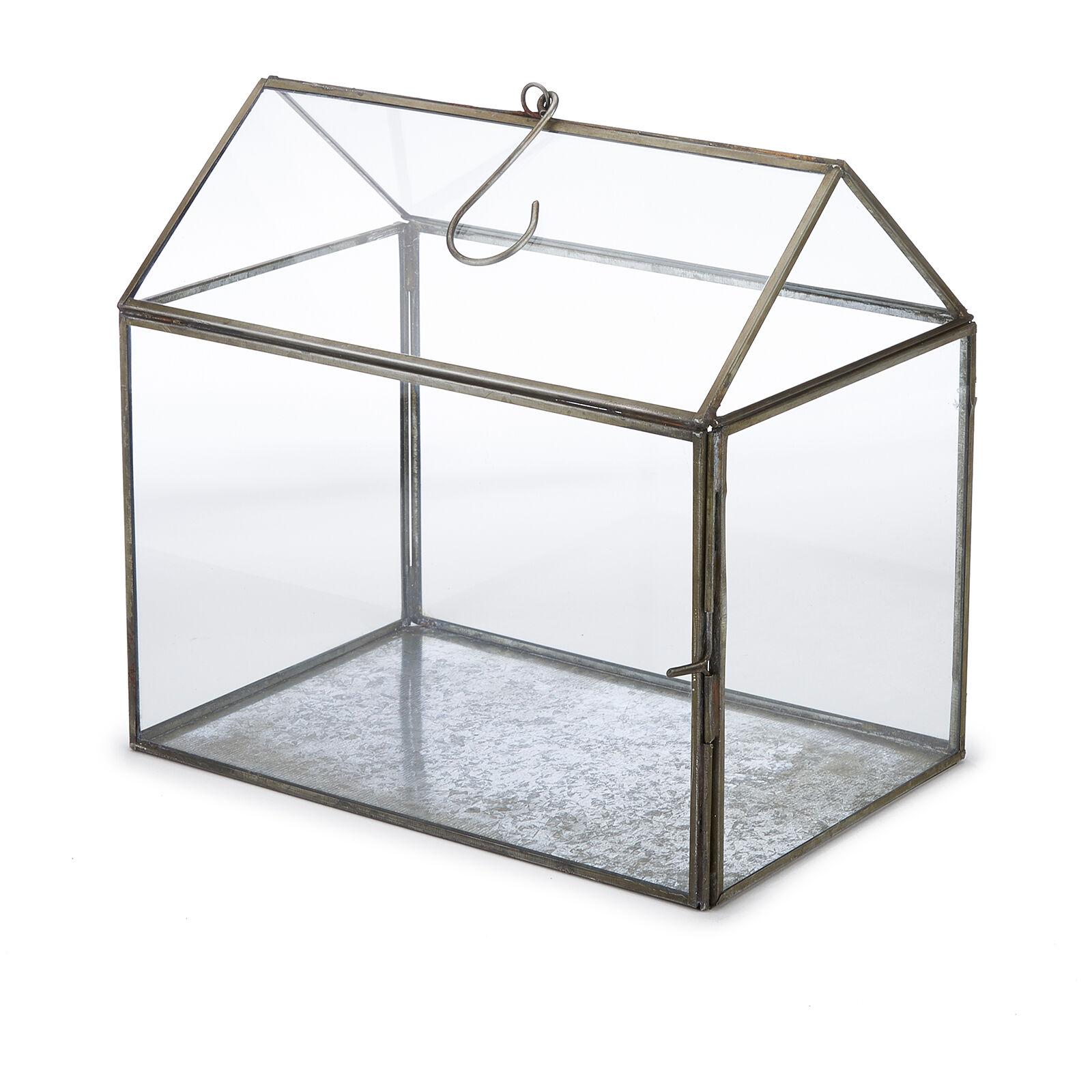Nkuku Miro Greenhouse - Antique Zinc - Small