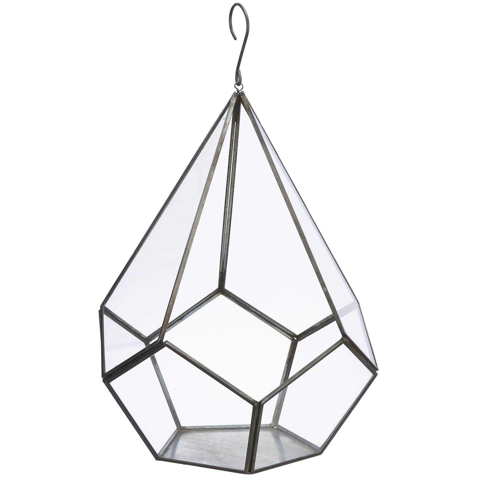 Nkuku Manduri Hanging Planter - Antique Zinc - Small