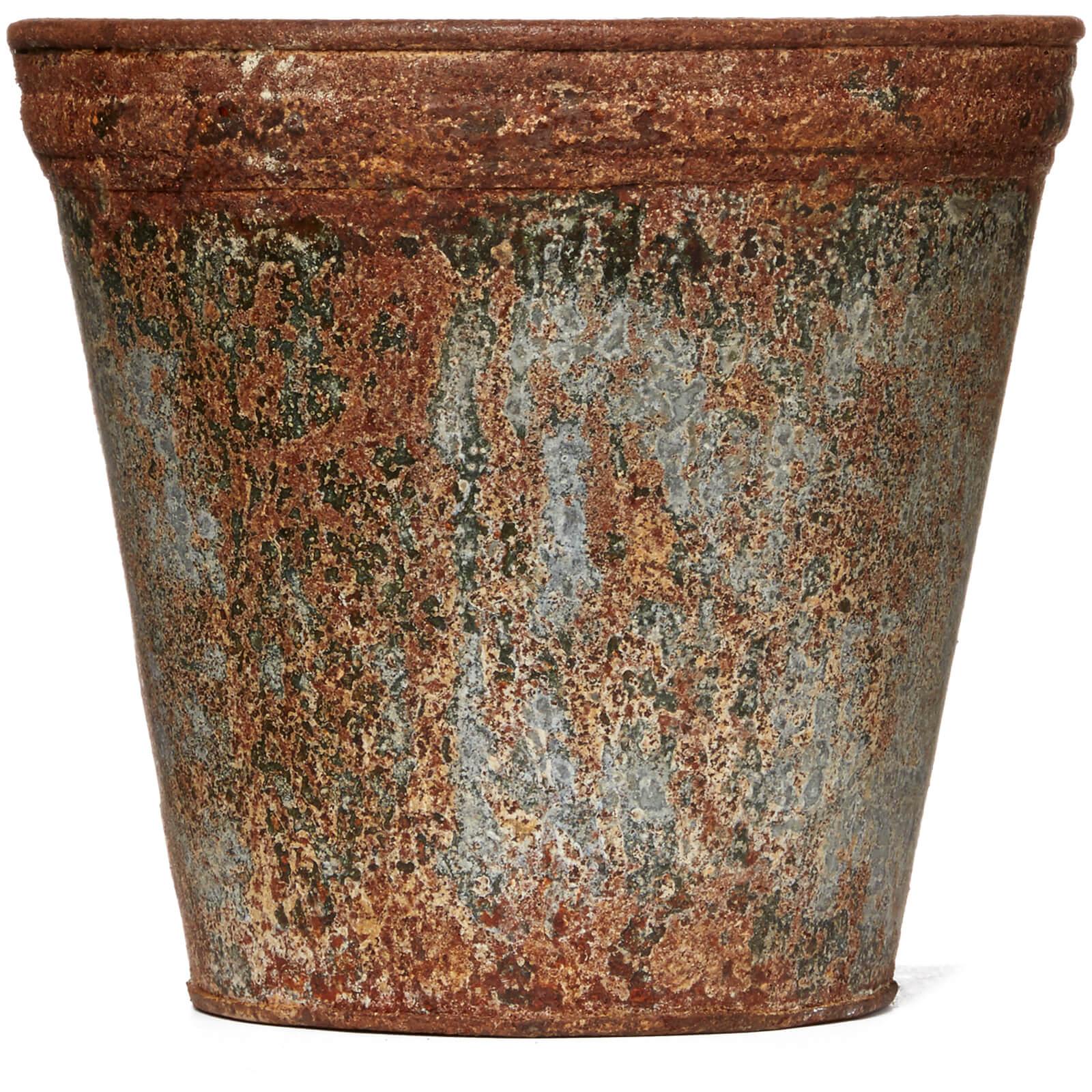 Nkuku Abari Zinc Flower Pot 18 x 19.5cm