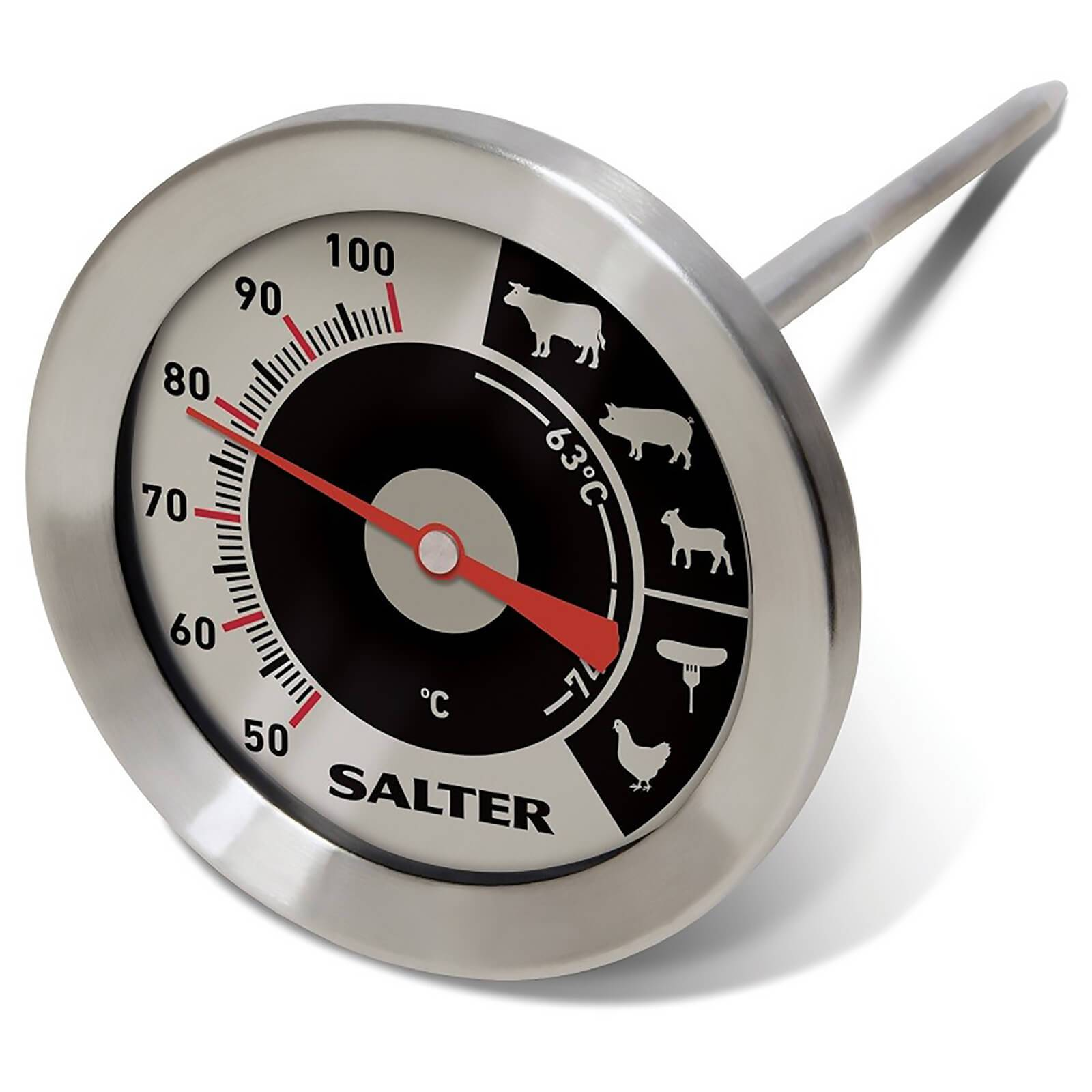 Salter Analogue Meat Thermometer - Stainless Steel