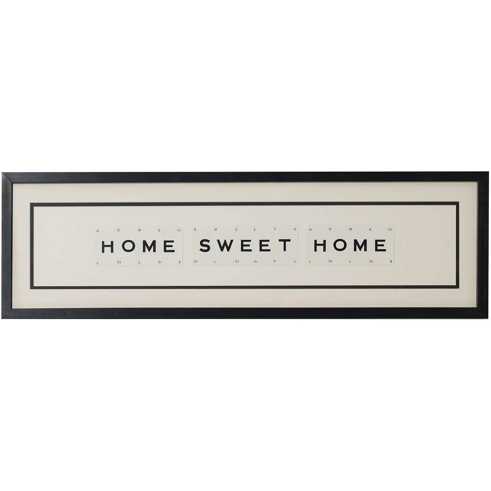 Vintage Playing Cards Home Sweet Home Framed Wall Art