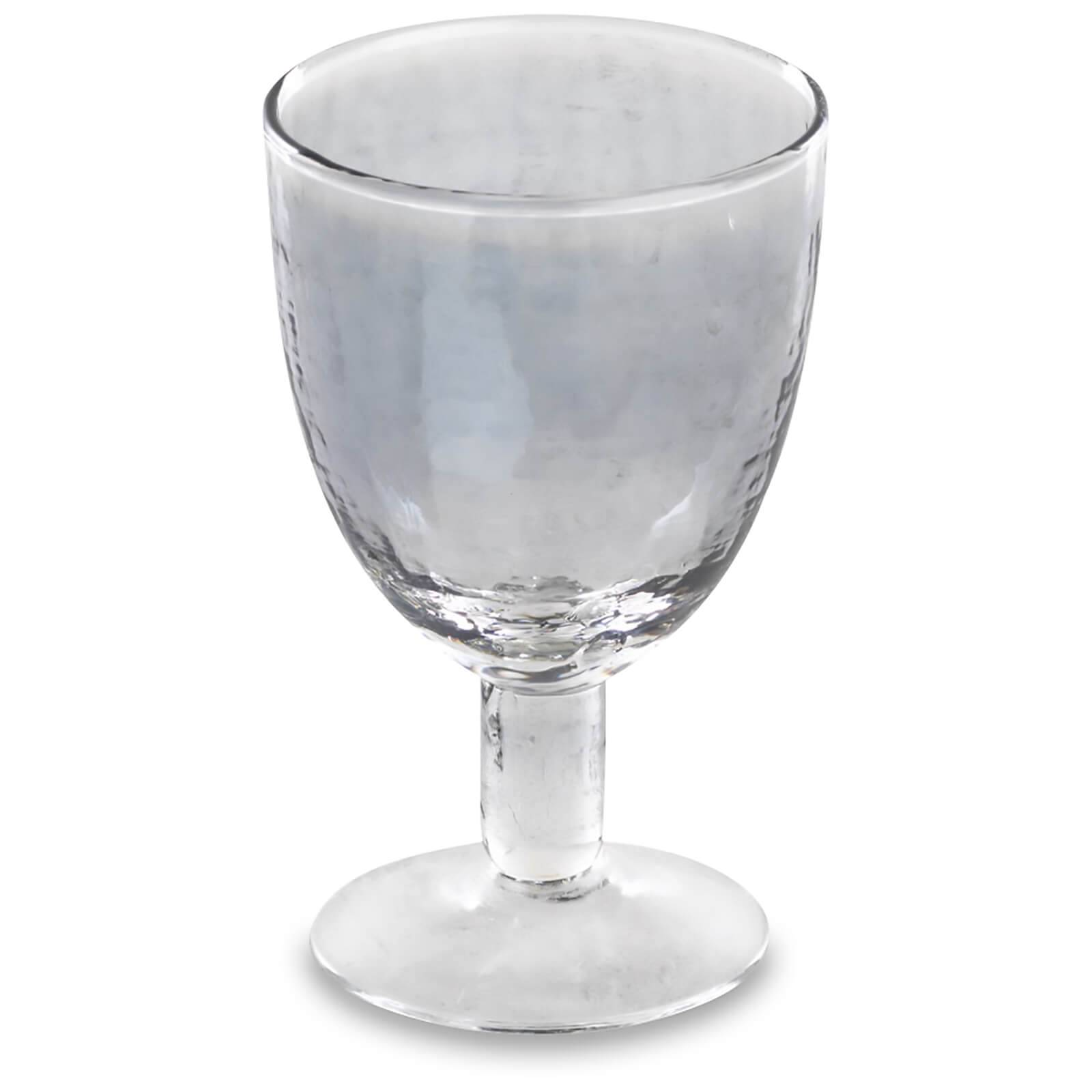 Nkuku Ozari Wine Glass - Aged Silver