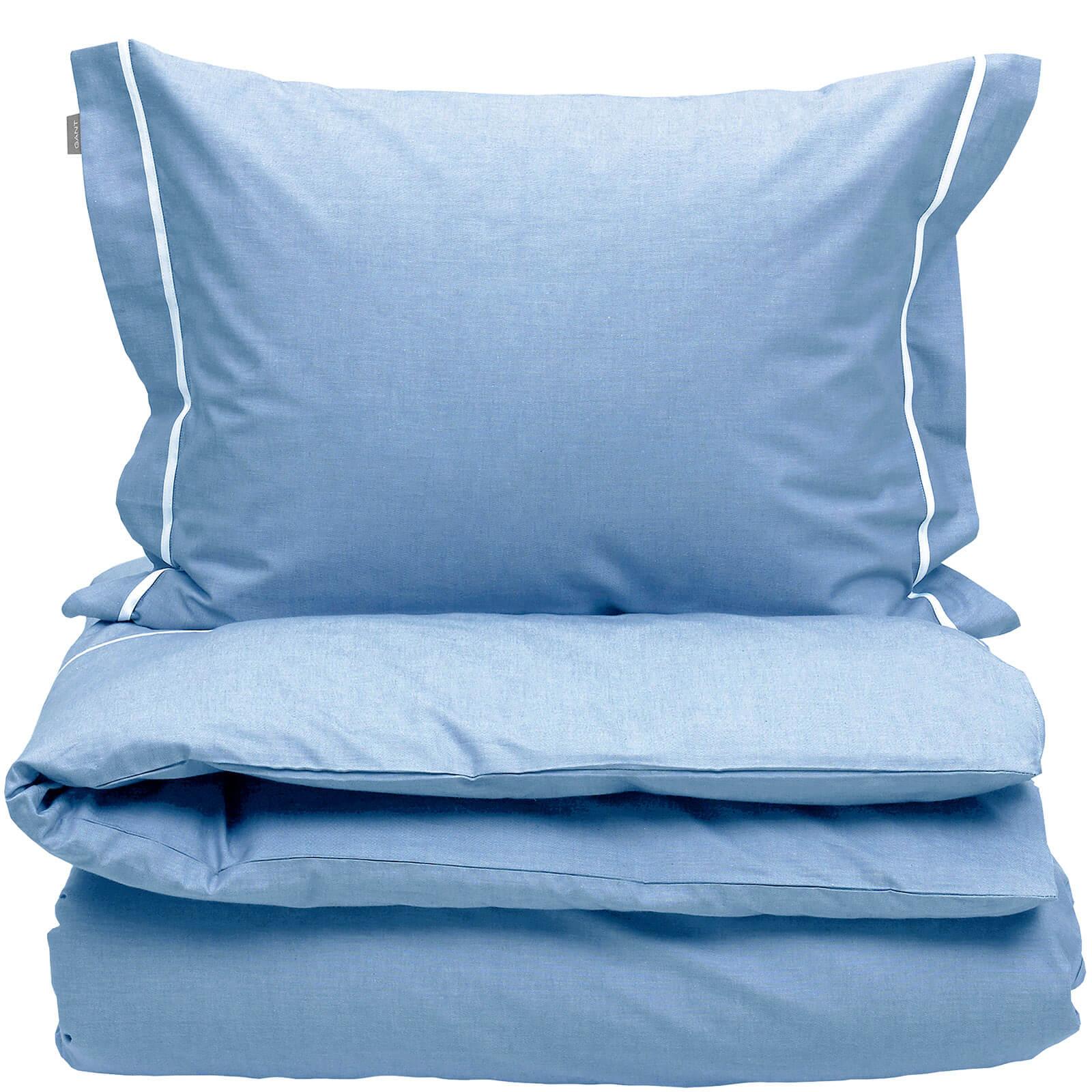 GANT Home New Oxford Duvet Cover - King - 240 x 220cm - Blue