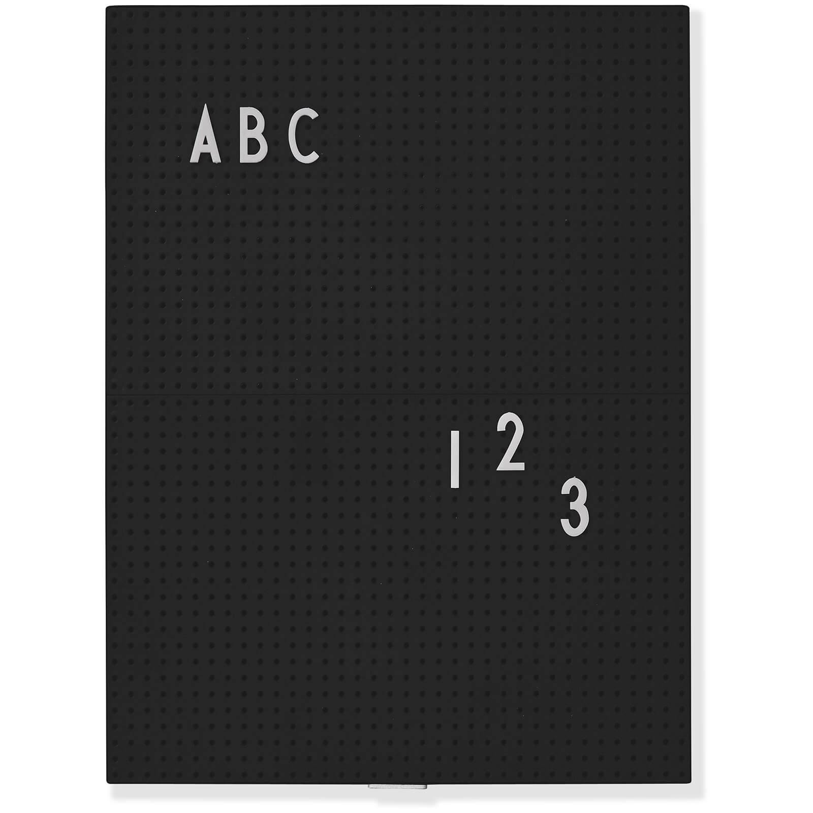 Design Letters A4 Message Board - Black
