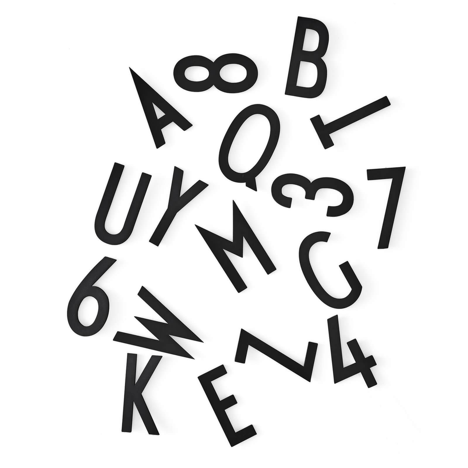 Design Letters Letterbox for Message Board - Large - Black