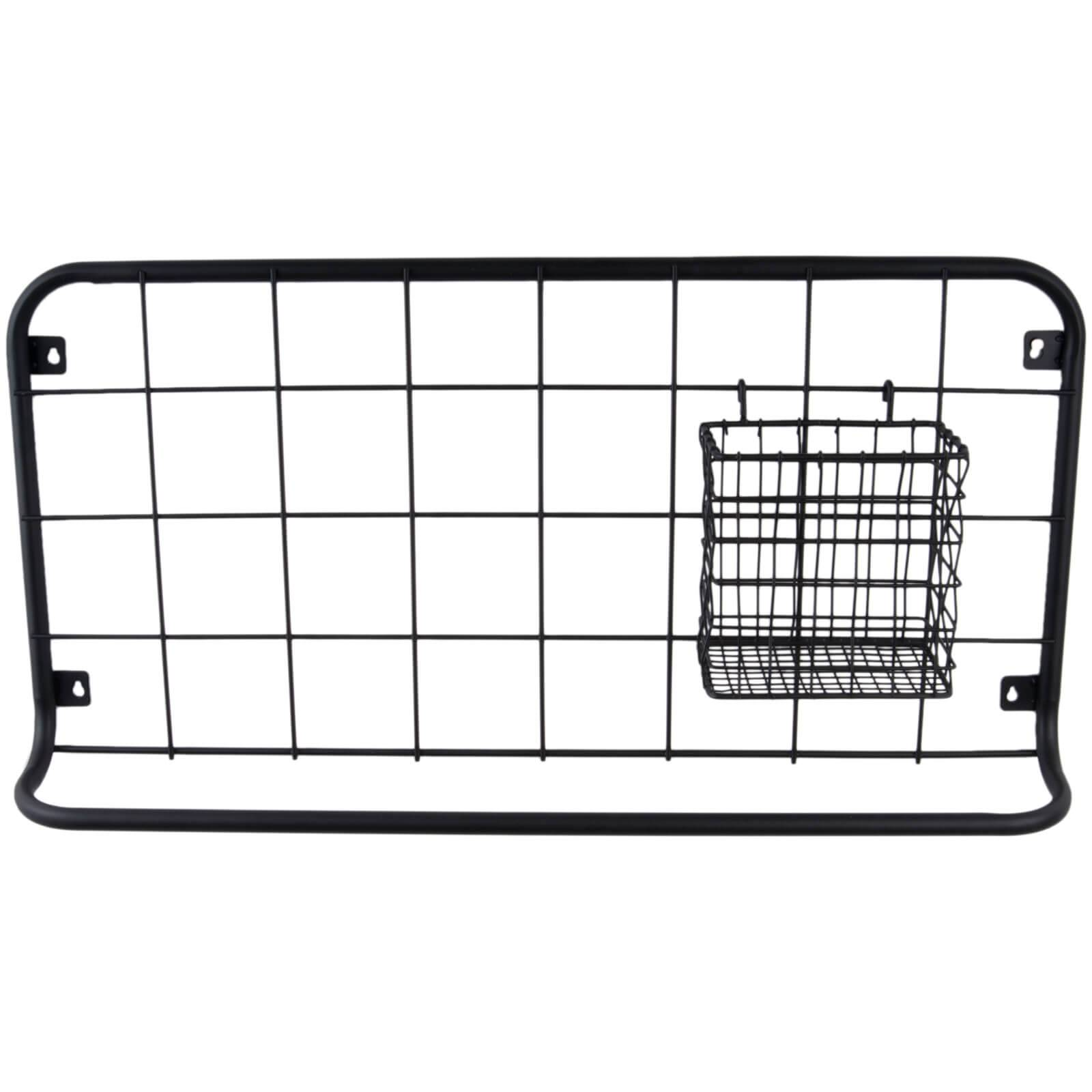 Present Time Open Grid Kitchen Rack Set - Matt Black